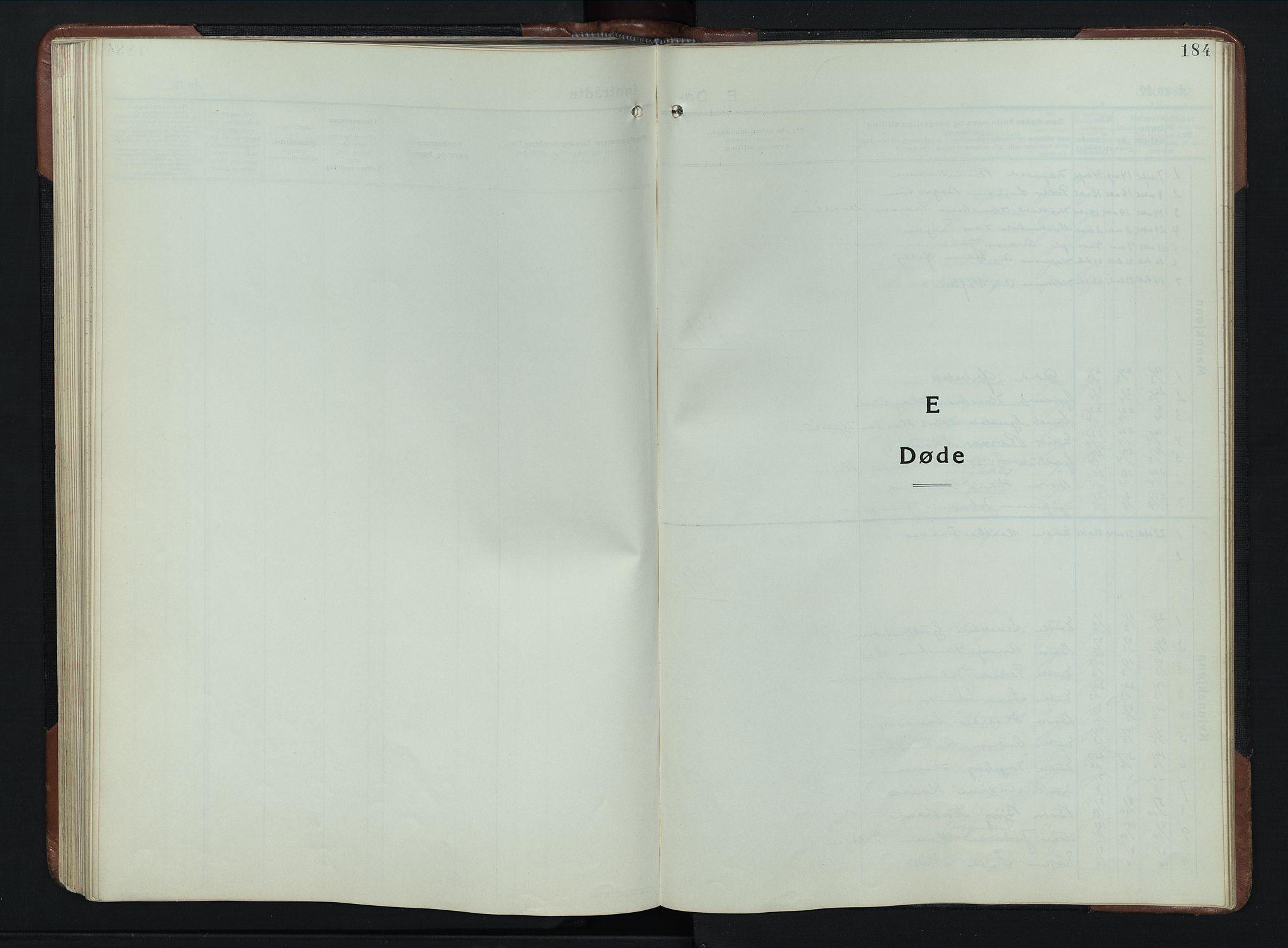 SAH, Vardal prestekontor, H/Ha/Hab/L0023: Klokkerbok nr. 23, 1929-1941, s. 184