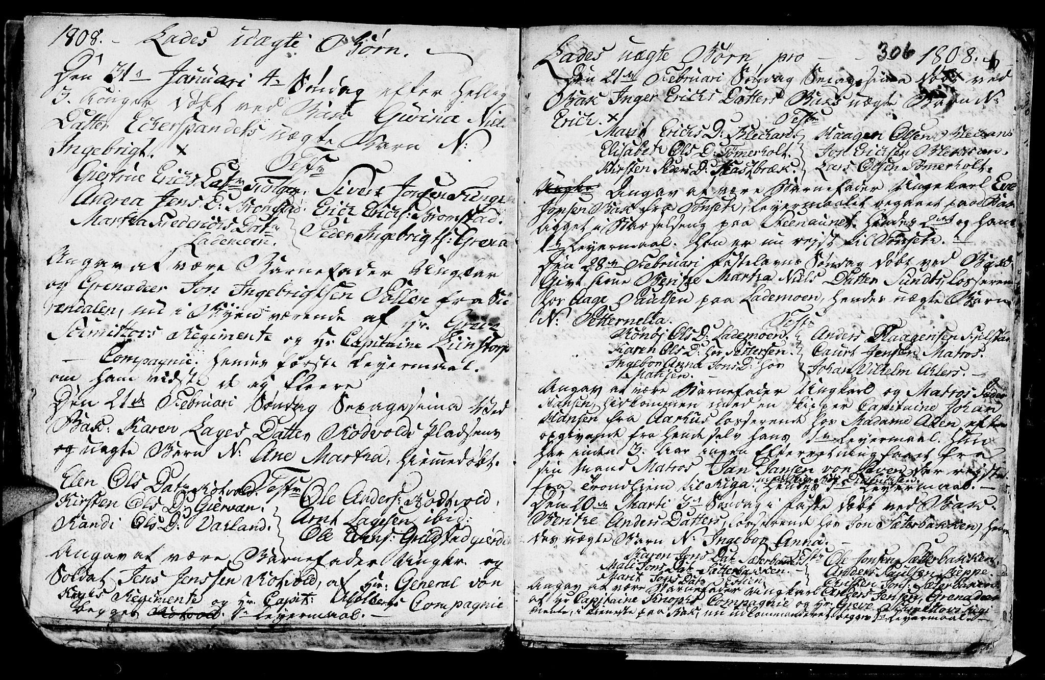 SAT, Ministerialprotokoller, klokkerbøker og fødselsregistre - Sør-Trøndelag, 606/L0305: Klokkerbok nr. 606C01, 1757-1819, s. 306