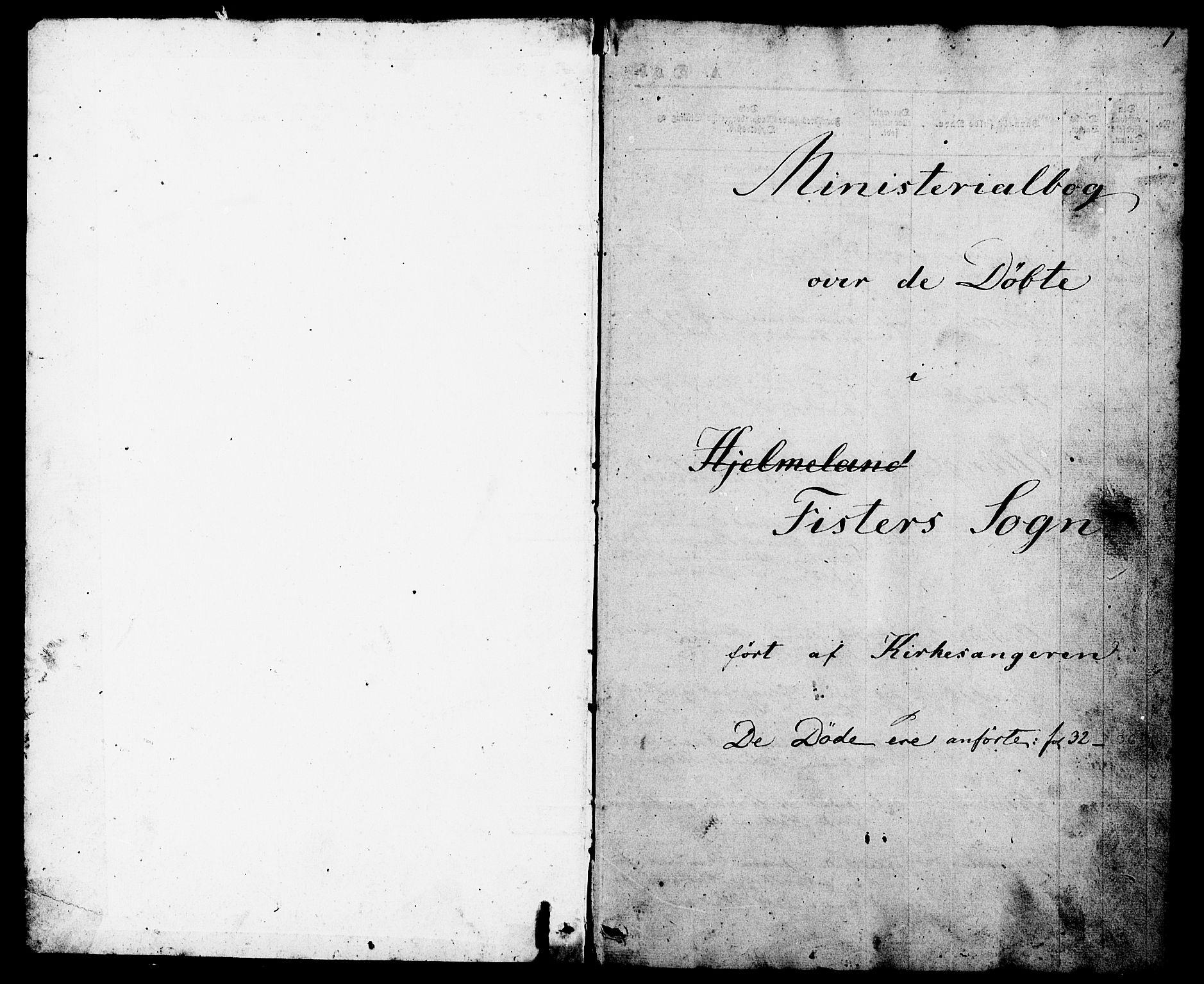 SAST, Hjelmeland sokneprestkontor, V/L0005: Klokkerbok nr. B 5, 1853-1892, s. 1