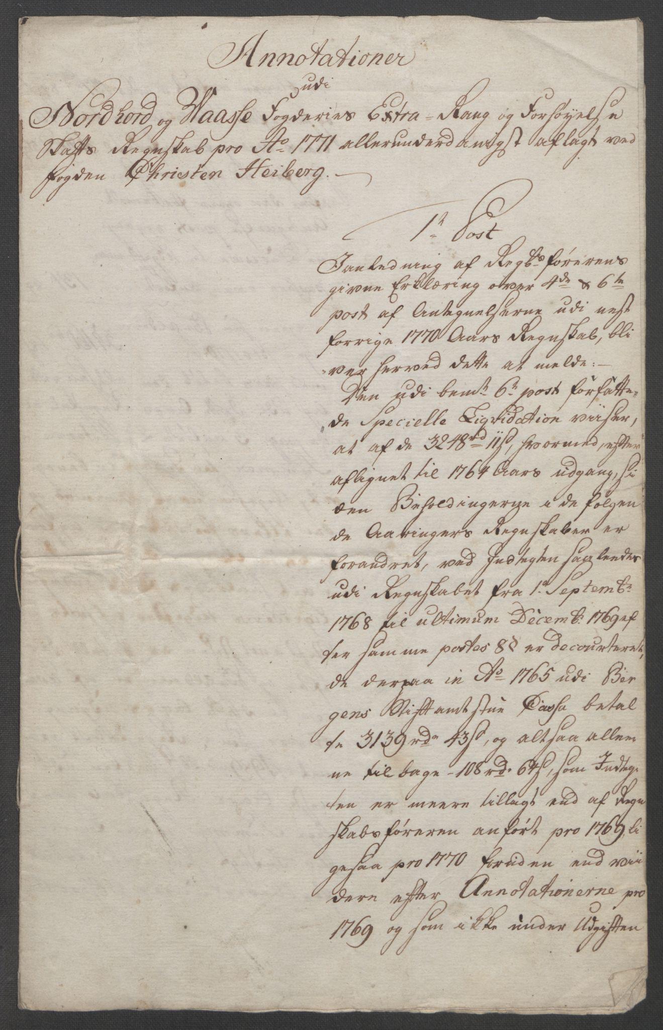 RA, Rentekammeret inntil 1814, Reviderte regnskaper, Fogderegnskap, R51/L3303: Ekstraskatten Nordhordland og Voss, 1762-1772, s. 671