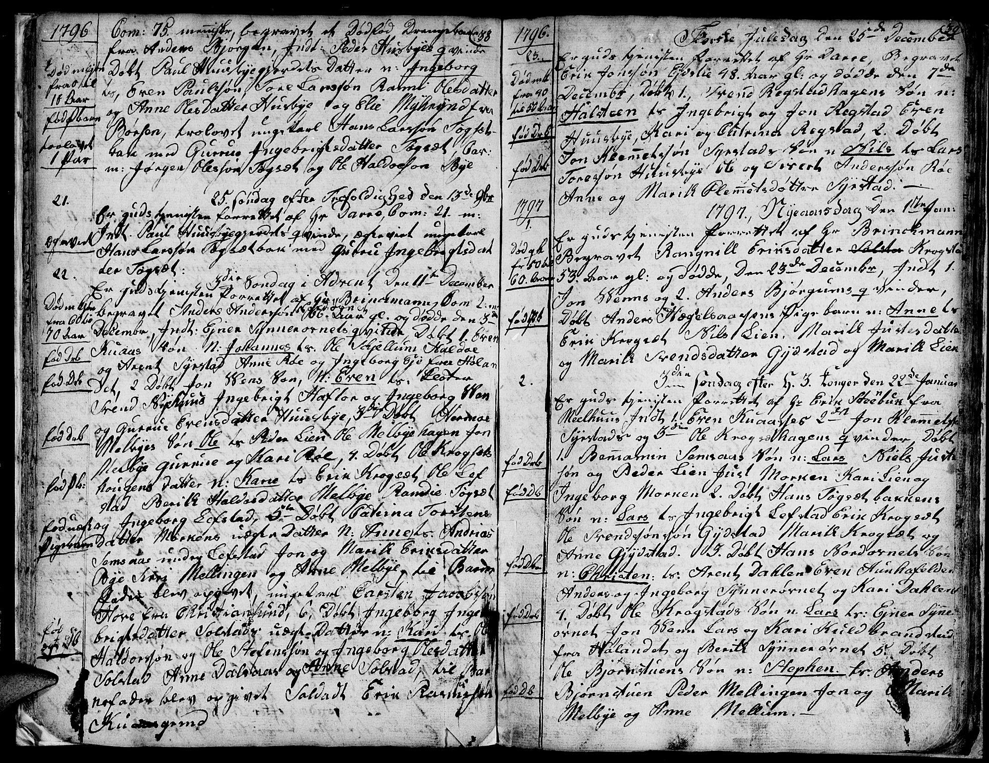SAT, Ministerialprotokoller, klokkerbøker og fødselsregistre - Sør-Trøndelag, 667/L0794: Ministerialbok nr. 667A02, 1791-1816, s. 38-39