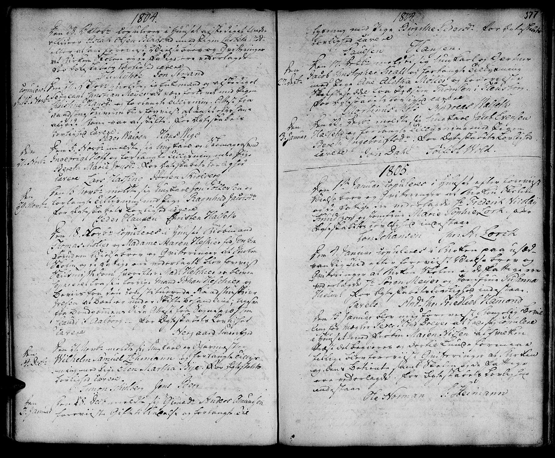 SAT, Ministerialprotokoller, klokkerbøker og fødselsregistre - Sør-Trøndelag, 601/L0038: Ministerialbok nr. 601A06, 1766-1877, s. 377