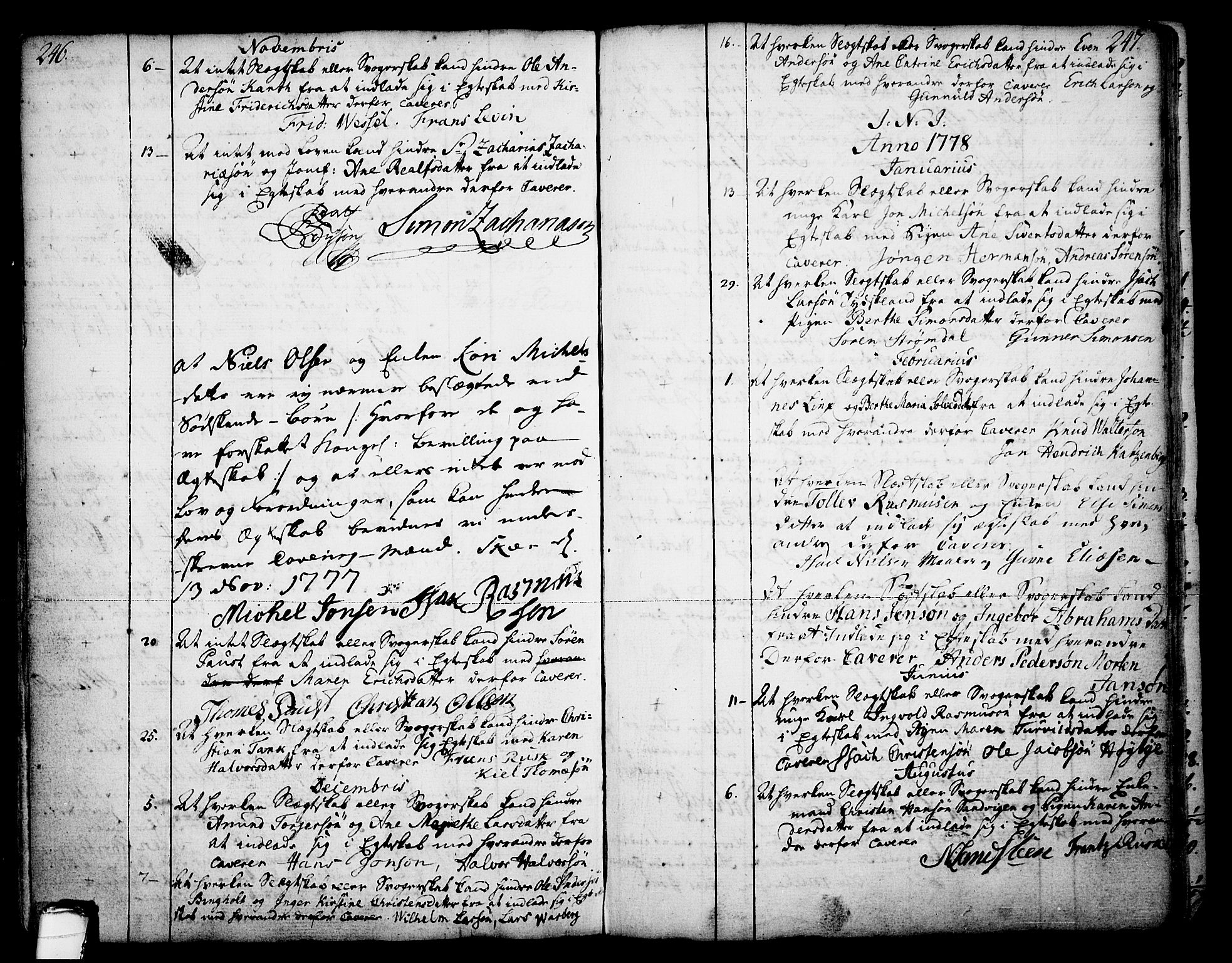 SAKO, Skien kirkebøker, F/Fa/L0003: Ministerialbok nr. 3, 1755-1791, s. 246-247