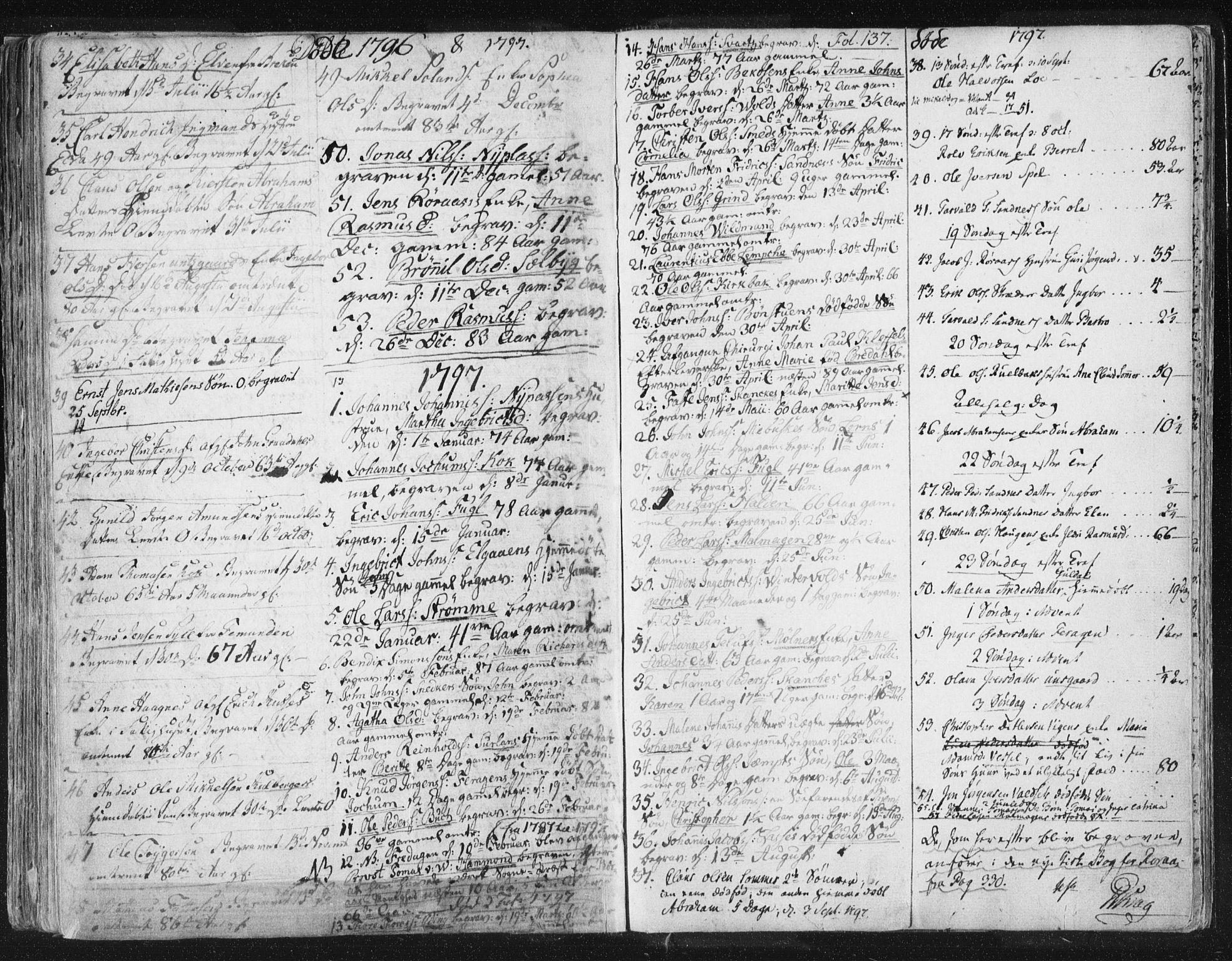 SAT, Ministerialprotokoller, klokkerbøker og fødselsregistre - Sør-Trøndelag, 681/L0926: Ministerialbok nr. 681A04, 1767-1797, s. 137