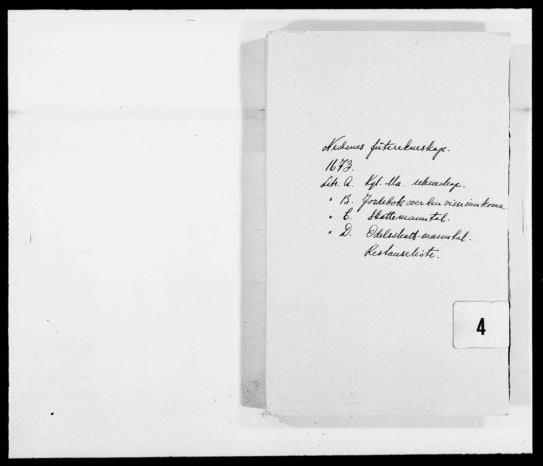 RA, Rentekammeret inntil 1814, Reviderte regnskaper, Fogderegnskap, R39/L2300: Fogderegnskap Nedenes, 1672-1674, s. 123