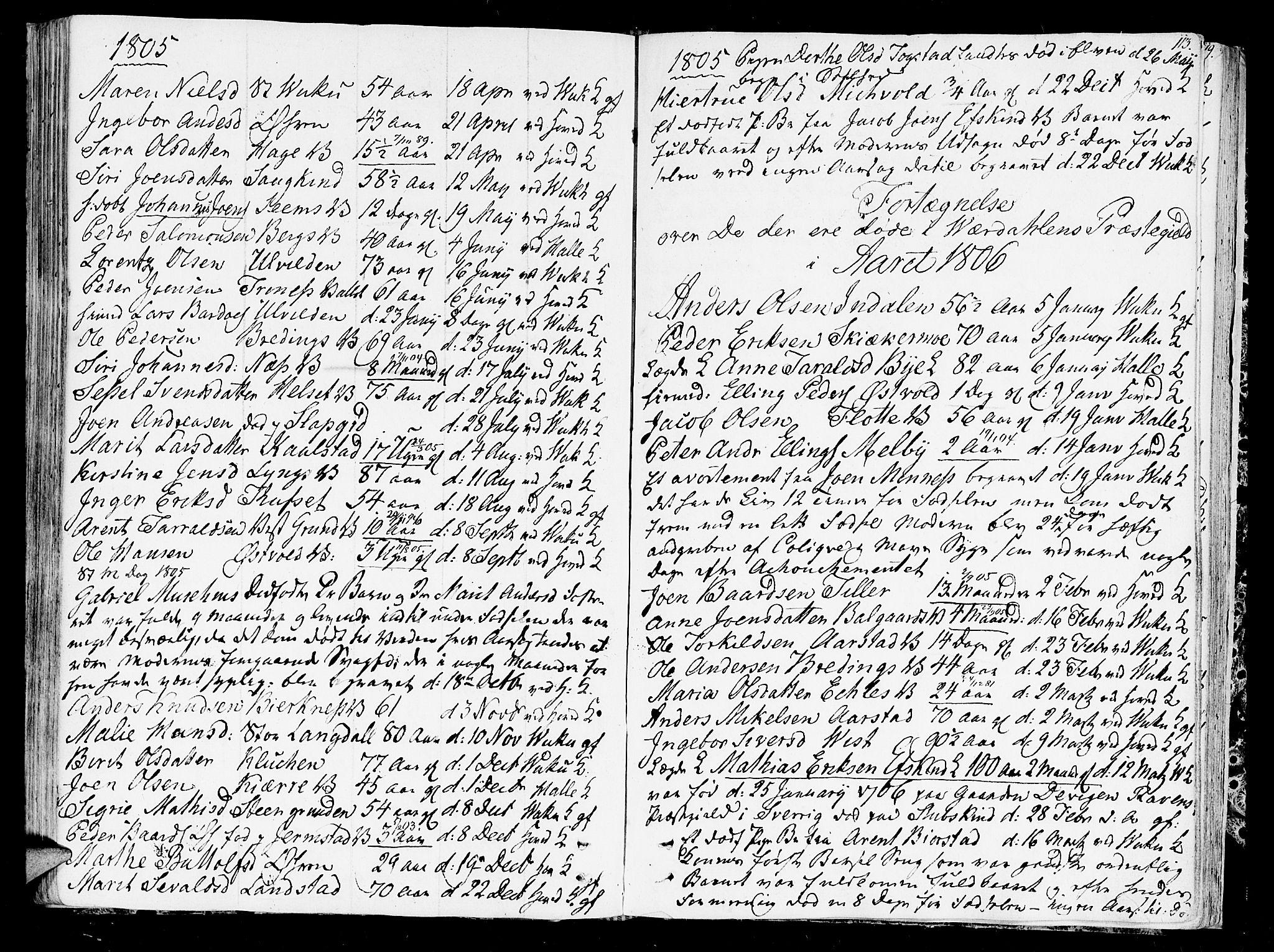 SAT, Ministerialprotokoller, klokkerbøker og fødselsregistre - Nord-Trøndelag, 723/L0233: Ministerialbok nr. 723A04, 1805-1816, s. 113