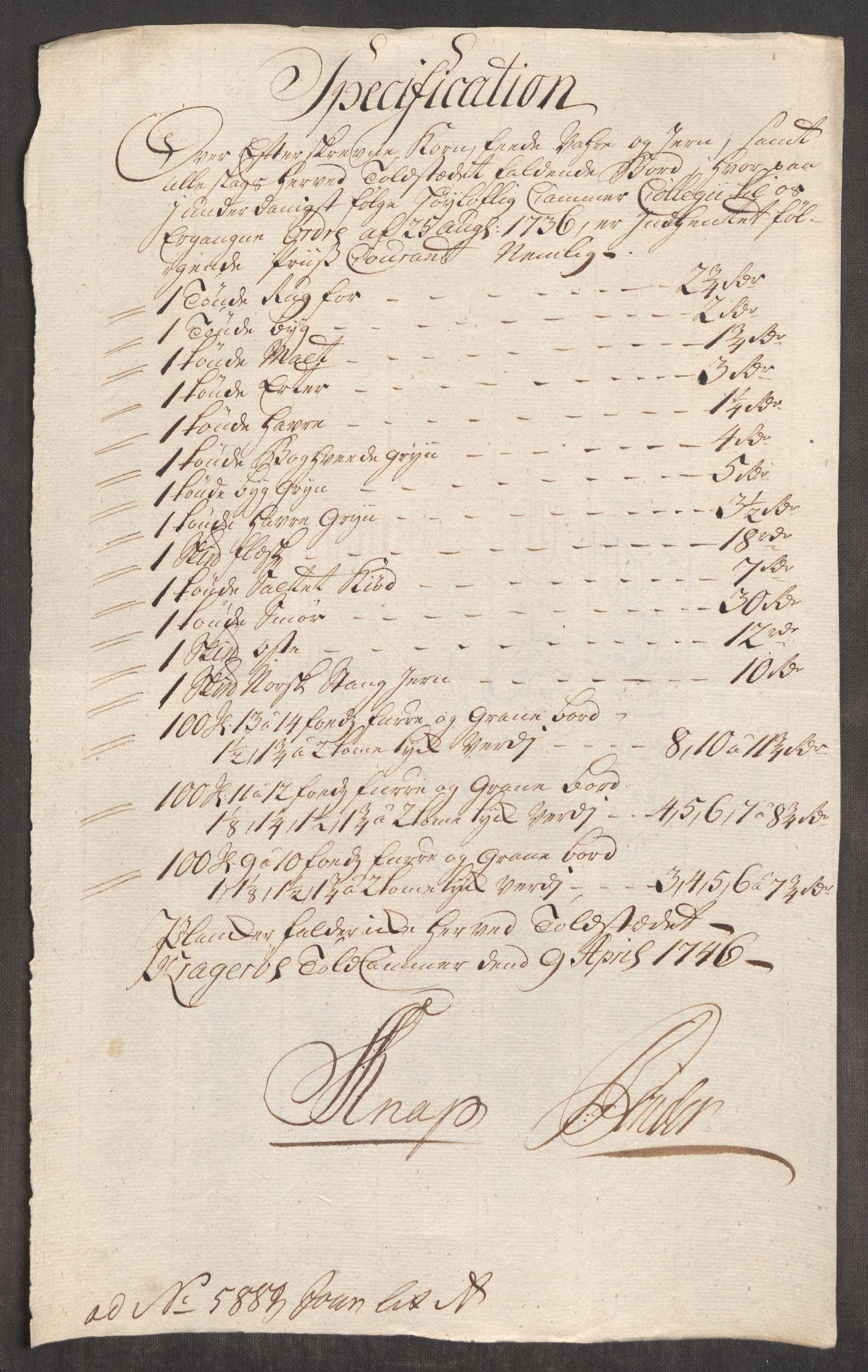 RA, Rentekammeret inntil 1814, Realistisk ordnet avdeling, Oe/L0003: [Ø1]: Priskuranter, 1745-1748, s. 371
