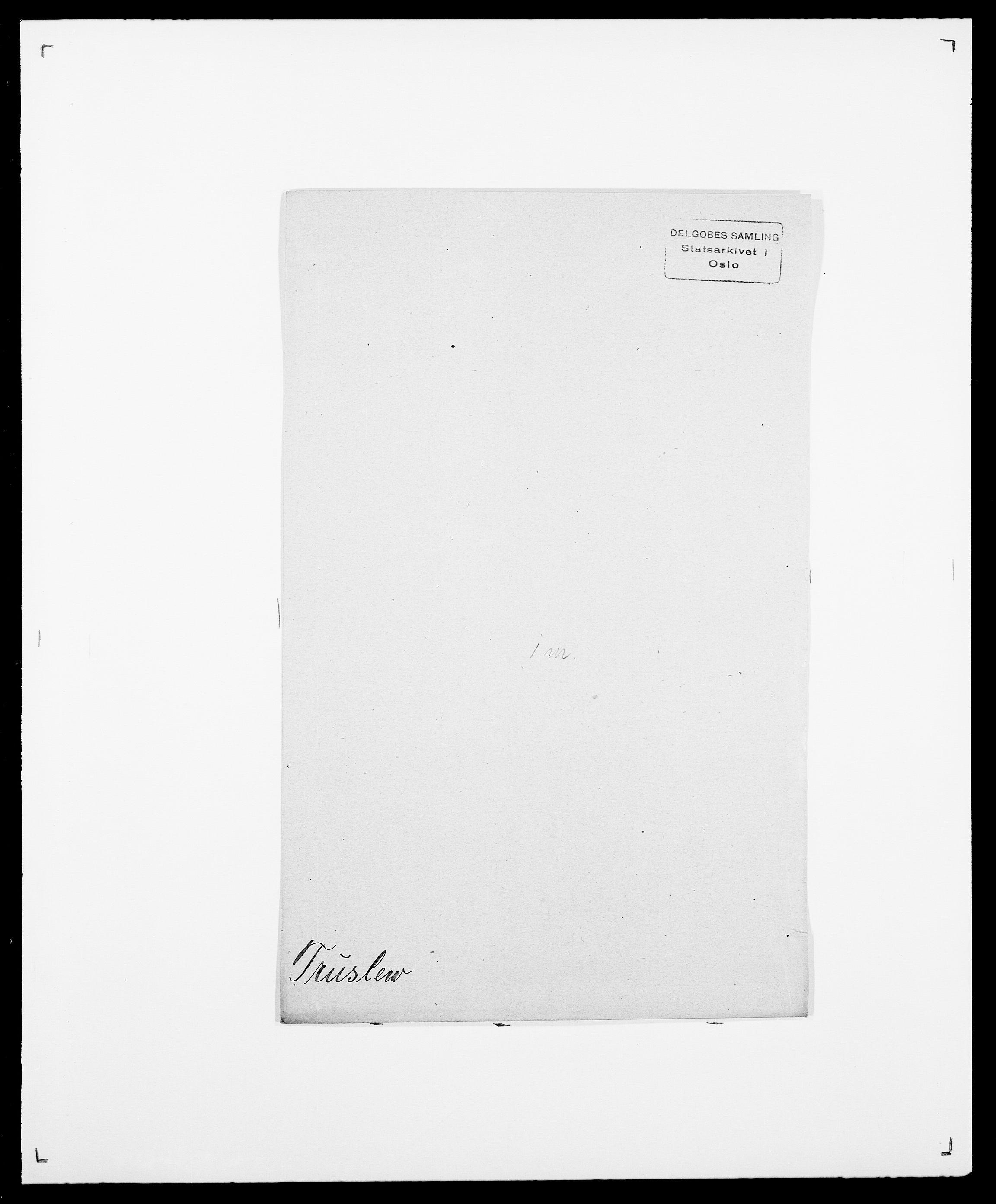 SAO, Delgobe, Charles Antoine - samling, D/Da/L0039: Thorsen - Urup, s. 418