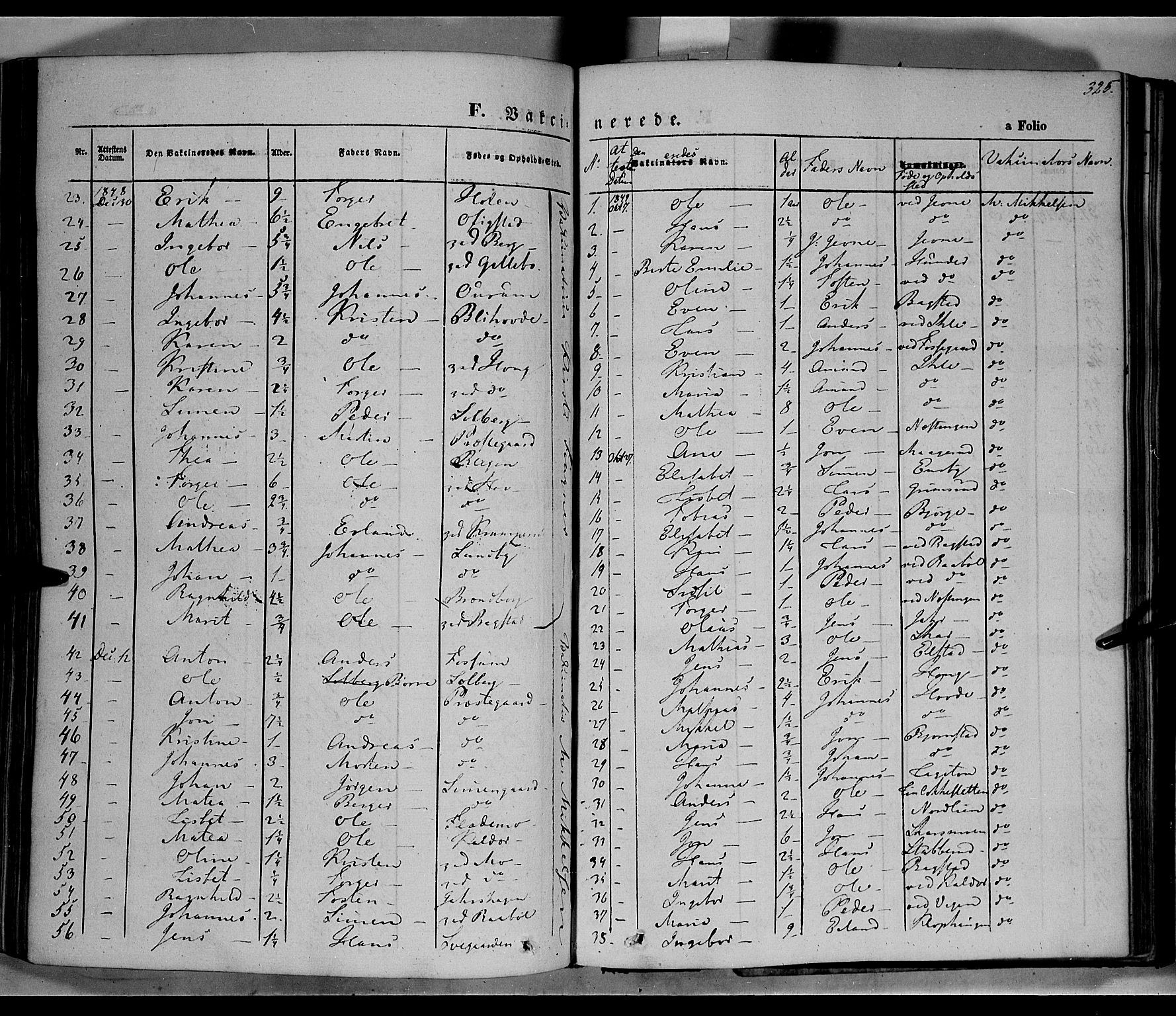 SAH, Øyer prestekontor, Ministerialbok nr. 5, 1842-1857, s. 325