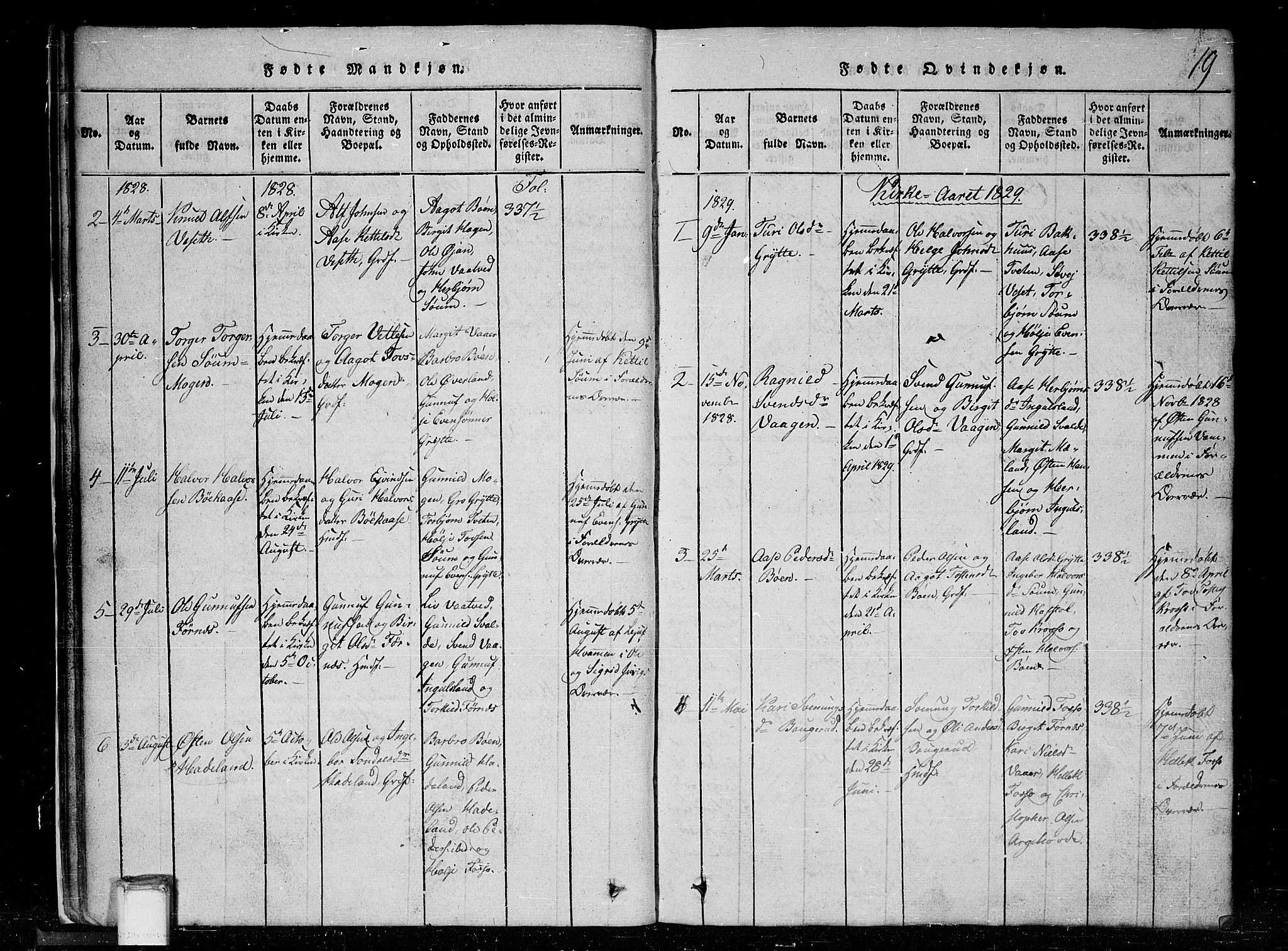 SAKO, Tinn kirkebøker, G/Gc/L0001: Klokkerbok nr. III 1, 1815-1879, s. 19