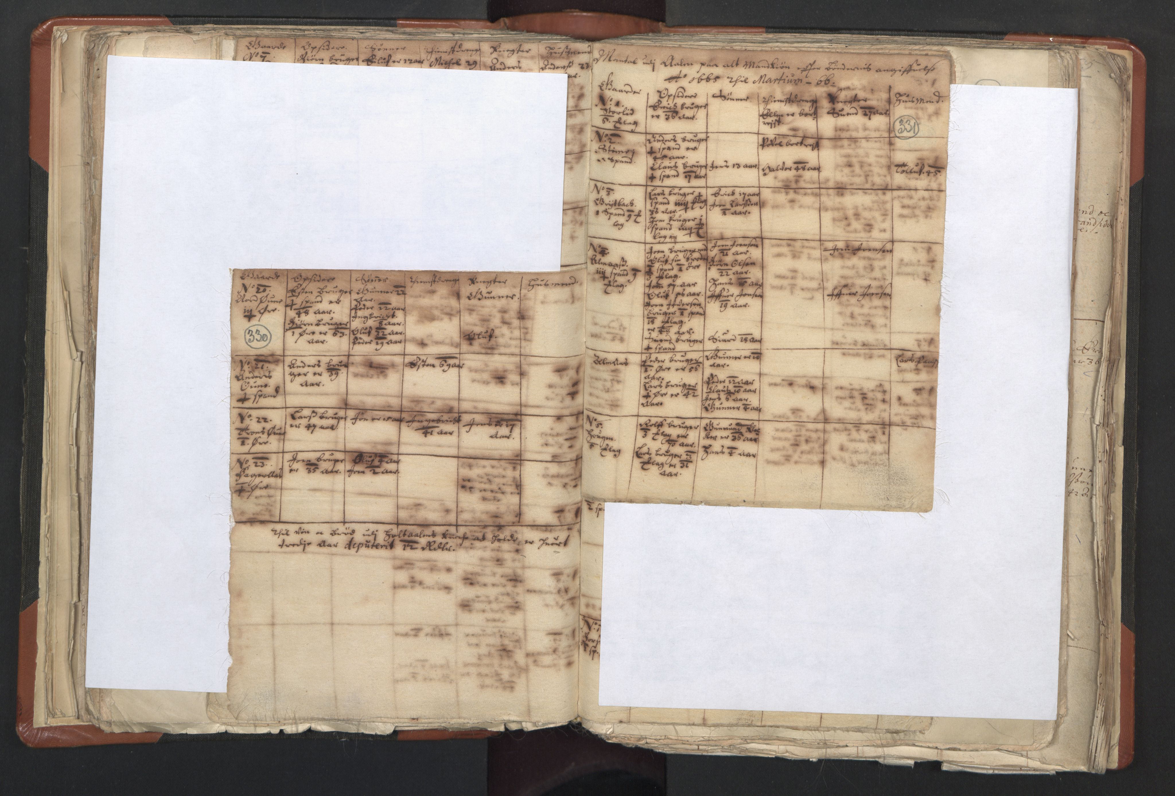 RA, Sogneprestenes manntall 1664-1666, nr. 31: Dalane prosti, 1664-1666, s. 330-331