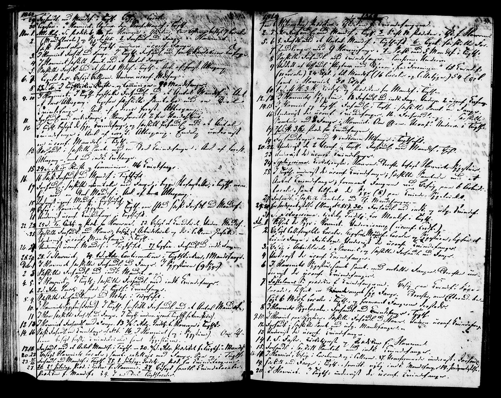 SAT, Ministerialprotokoller, klokkerbøker og fødselsregistre - Sør-Trøndelag, 624/L0481: Ministerialbok nr. 624A02, 1841-1869, s. 51