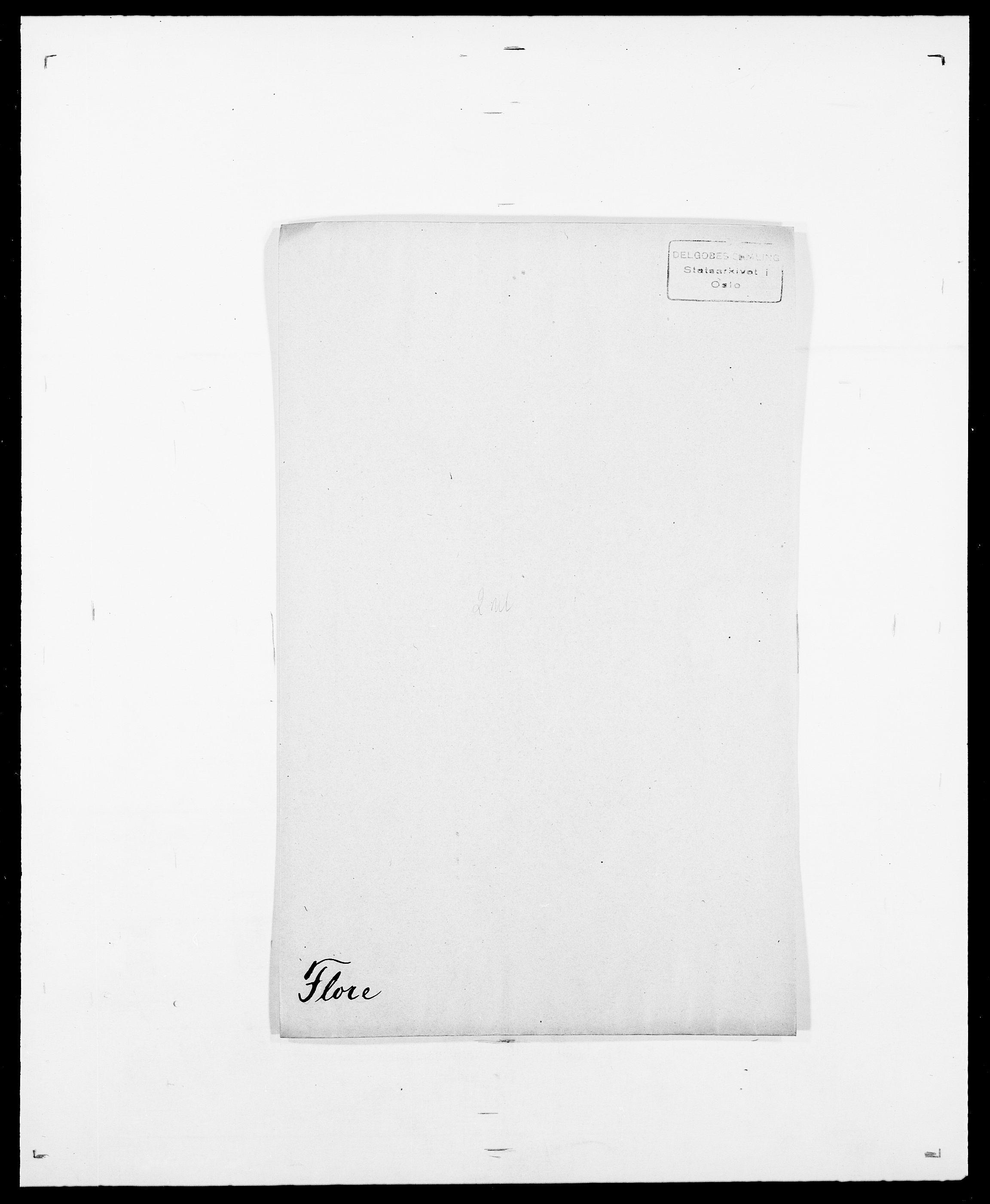 SAO, Delgobe, Charles Antoine - samling, D/Da/L0012: Flor, Floer, Flohr - Fritzner, s. 453