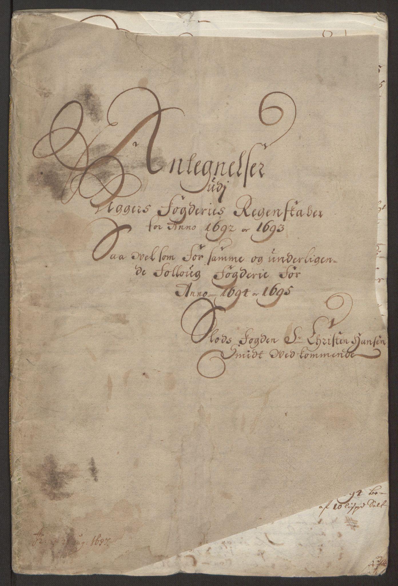 RA, Rentekammeret inntil 1814, Reviderte regnskaper, Fogderegnskap, R10/L0439: Fogderegnskap Aker og Follo, 1695, s. 272