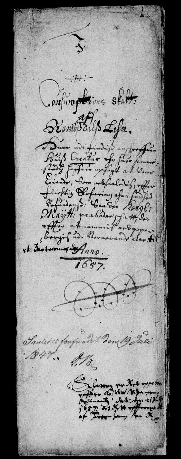 RA, Rentekammeret inntil 1814, Reviderte regnskaper, Lensregnskaper, R/Rb/Rbw/L0130: Trondheim len, 1657-1658