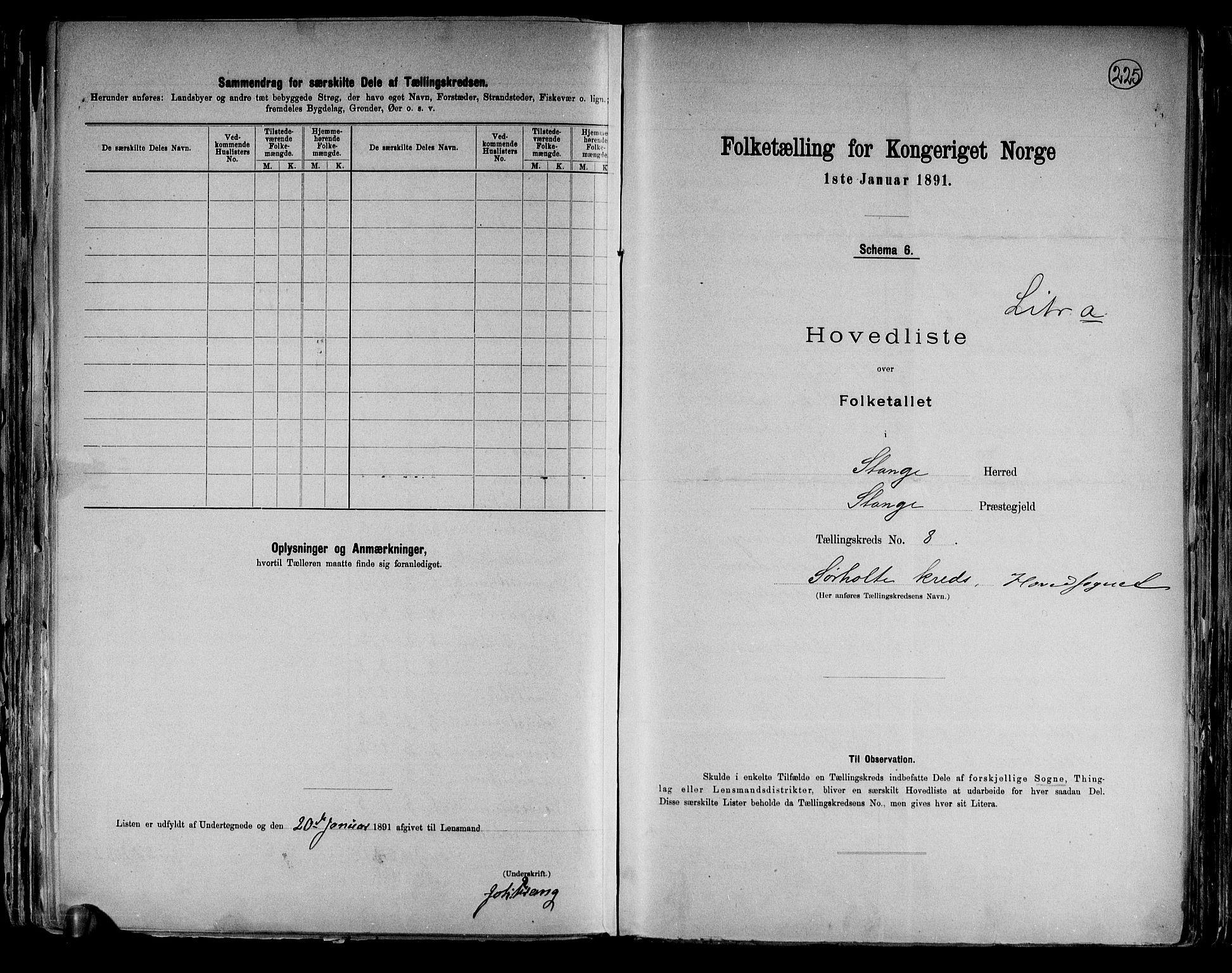 RA, Folketelling 1891 for 0417 Stange herred, 1891, s. 26