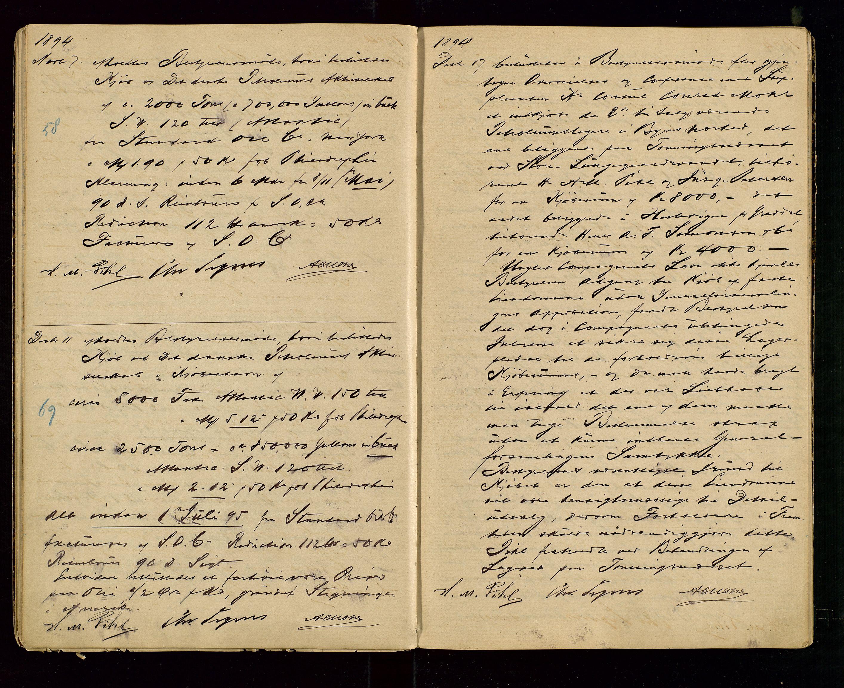 SAST, PA 1533 - A/S Vestlandske Petroleumscompani, A/Aa/L0001: Generalforsamlinger og styreprotokoller, 1890-1907, s. 20