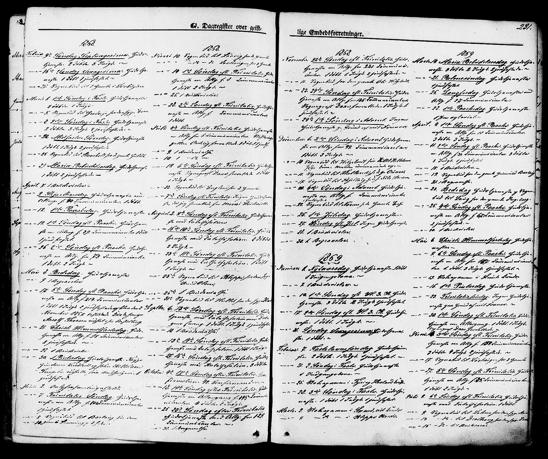 SAKO, Lunde kirkebøker, F/Fa/L0001: Ministerialbok nr. I 1, 1866-1883, s. 231