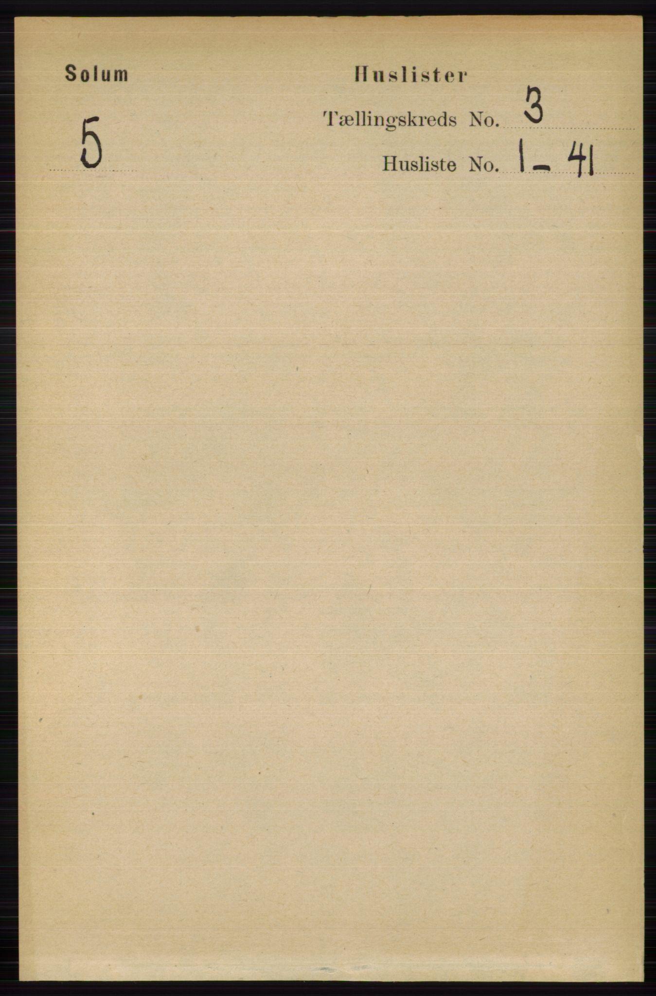RA, Folketelling 1891 for 0818 Solum herred, 1891, s. 301