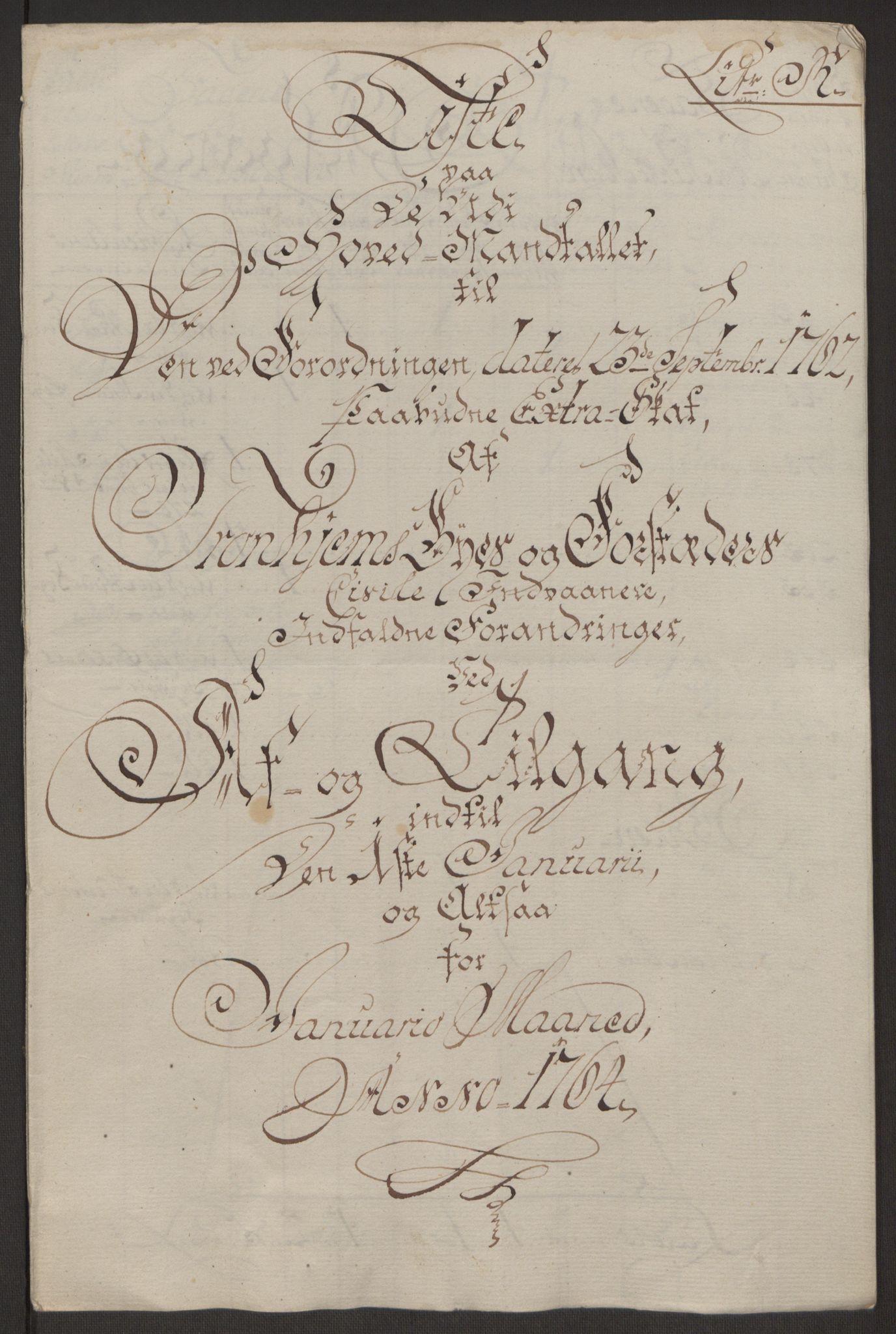 RA, Rentekammeret inntil 1814, Reviderte regnskaper, Byregnskaper, R/Rs/L0516: [S9] Kontribusjonsregnskap, 1762-1767, s. 183
