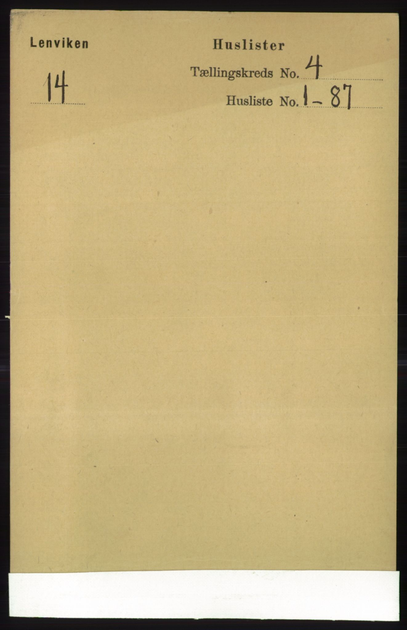 RA, Folketelling 1891 for 1931 Lenvik herred, 1891, s. 1828