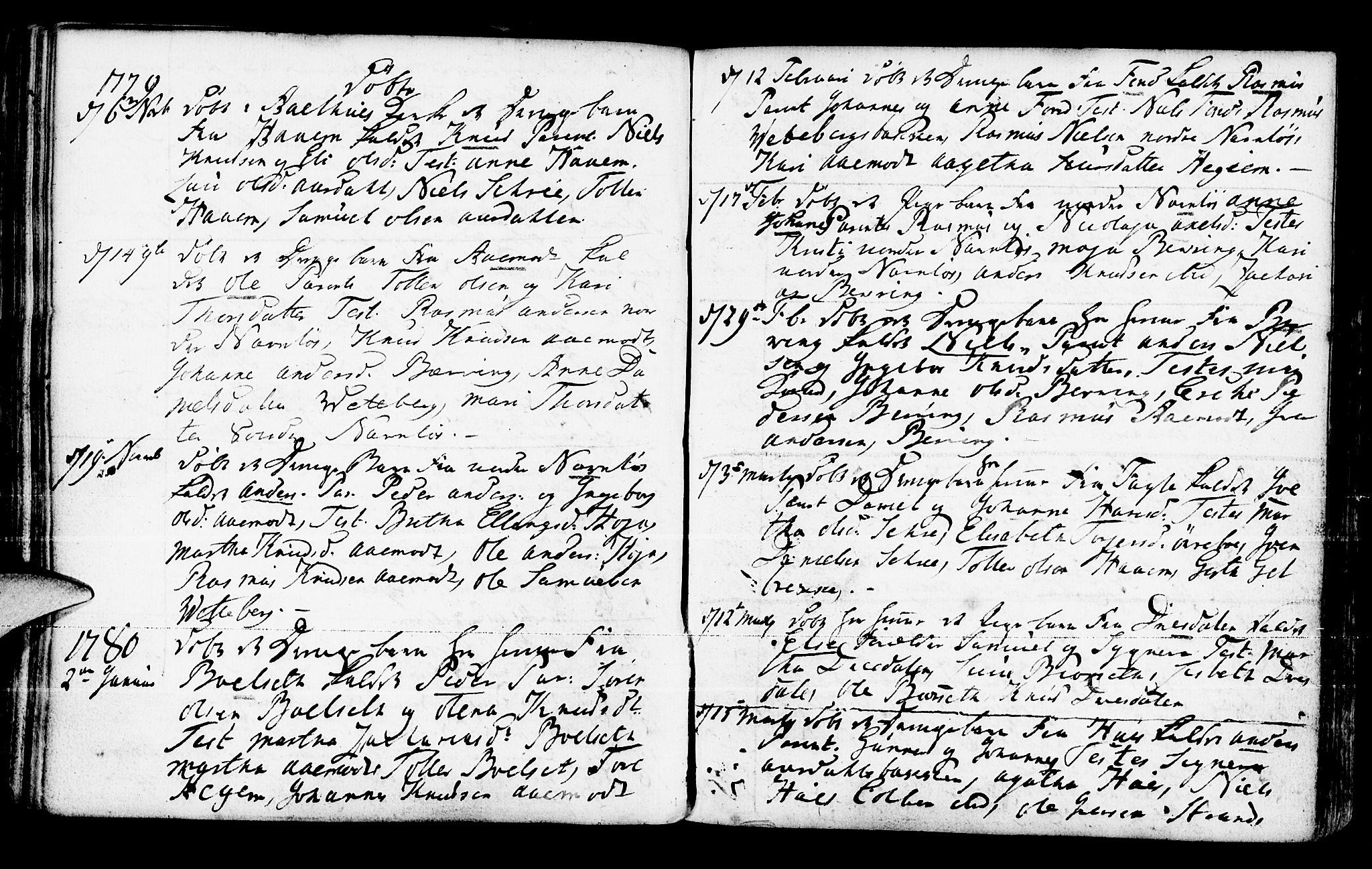 SAB, Jølster Sokneprestembete, Ministerialbok nr. A 4, 1749-1789, s. 168