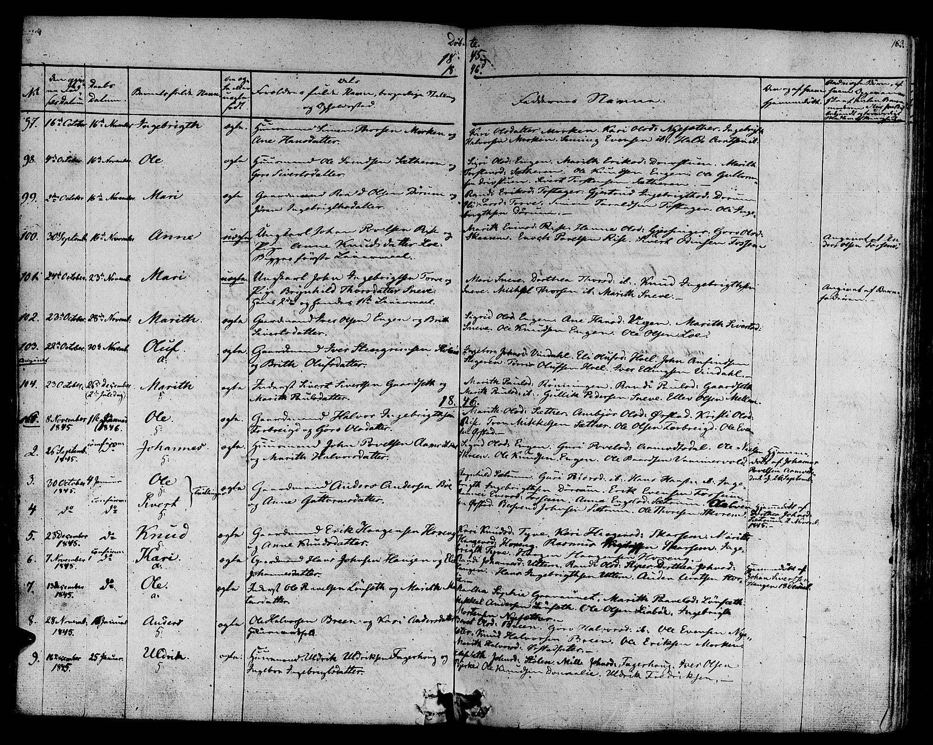 SAT, Ministerialprotokoller, klokkerbøker og fødselsregistre - Sør-Trøndelag, 678/L0897: Ministerialbok nr. 678A06-07, 1821-1847, s. 163