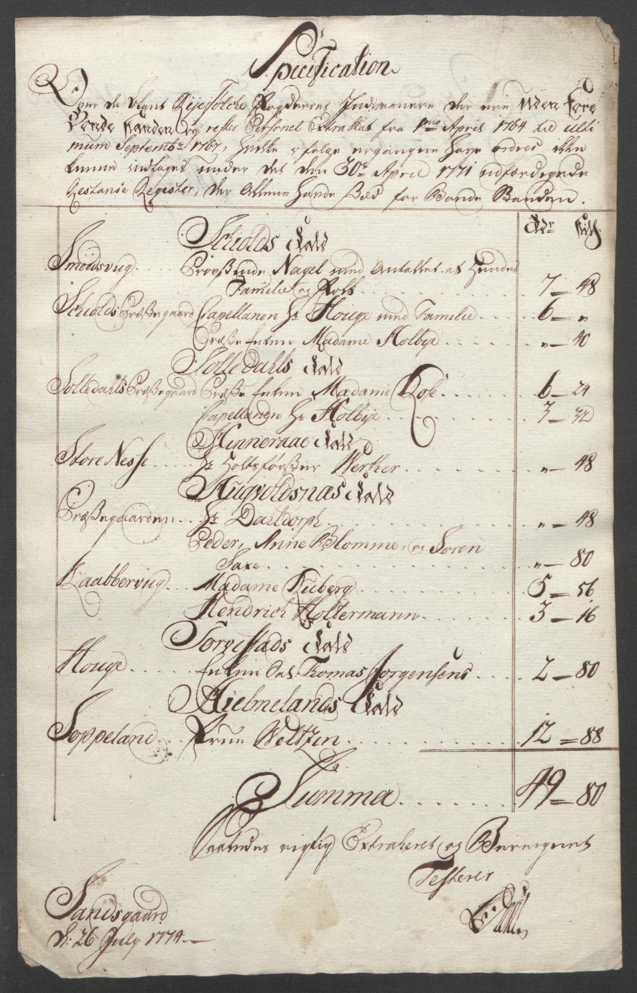 RA, Rentekammeret inntil 1814, Reviderte regnskaper, Fogderegnskap, R47/L2972: Ekstraskatten Ryfylke, 1762-1780, s. 418