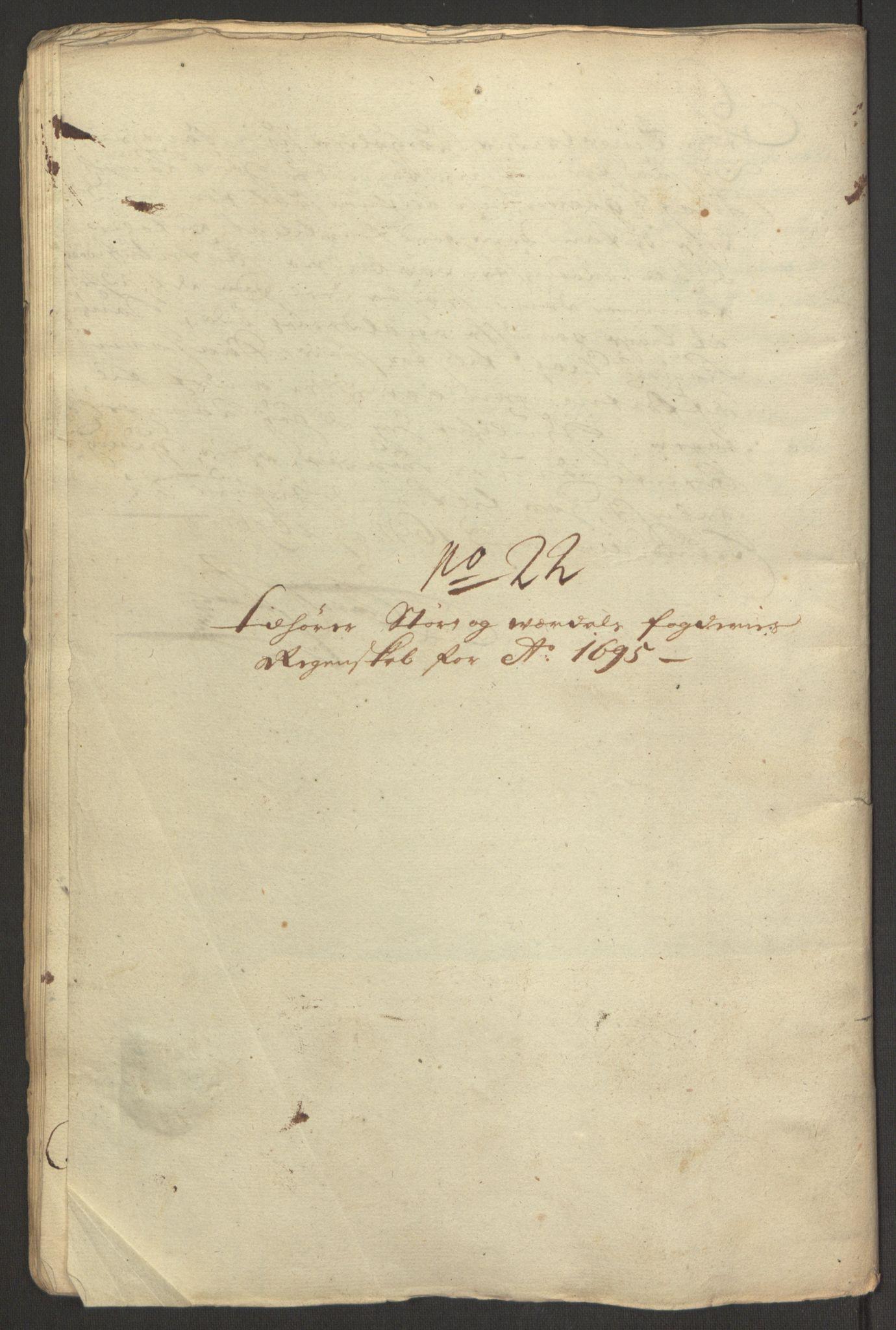 RA, Rentekammeret inntil 1814, Reviderte regnskaper, Fogderegnskap, R62/L4187: Fogderegnskap Stjørdal og Verdal, 1695, s. 253