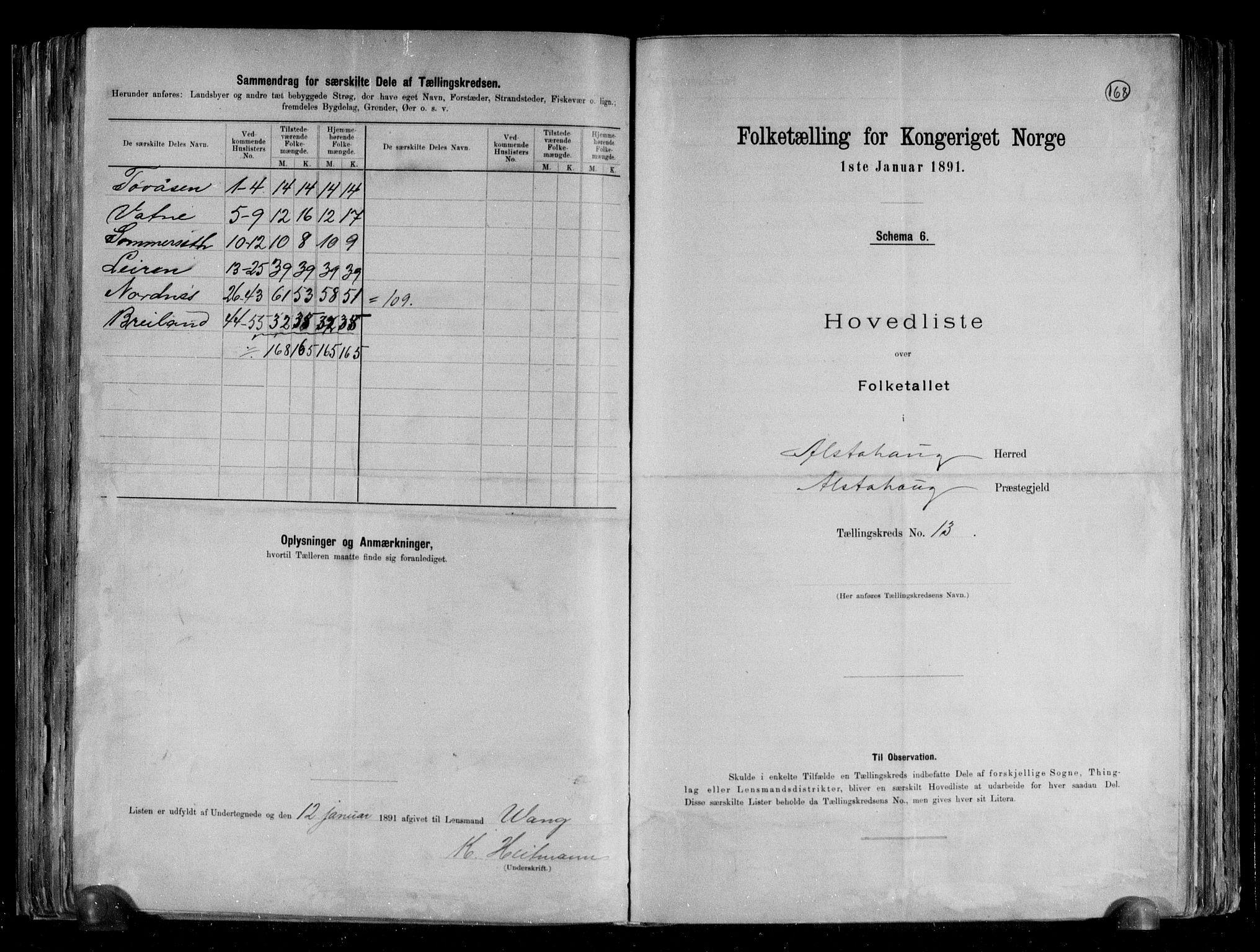 RA, Folketelling 1891 for 1820 Alstahaug herred, 1891, s. 30