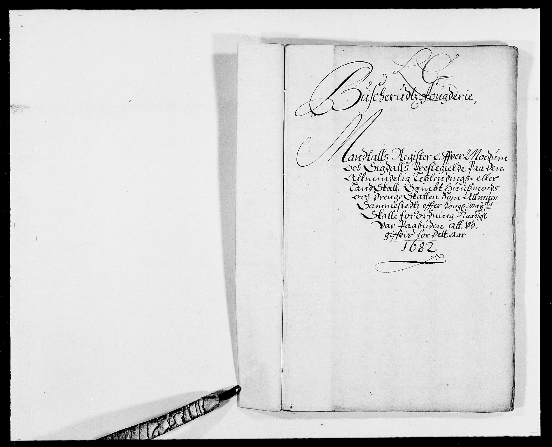 RA, Rentekammeret inntil 1814, Reviderte regnskaper, Fogderegnskap, R25/L1676: Fogderegnskap Buskerud, 1682, s. 28
