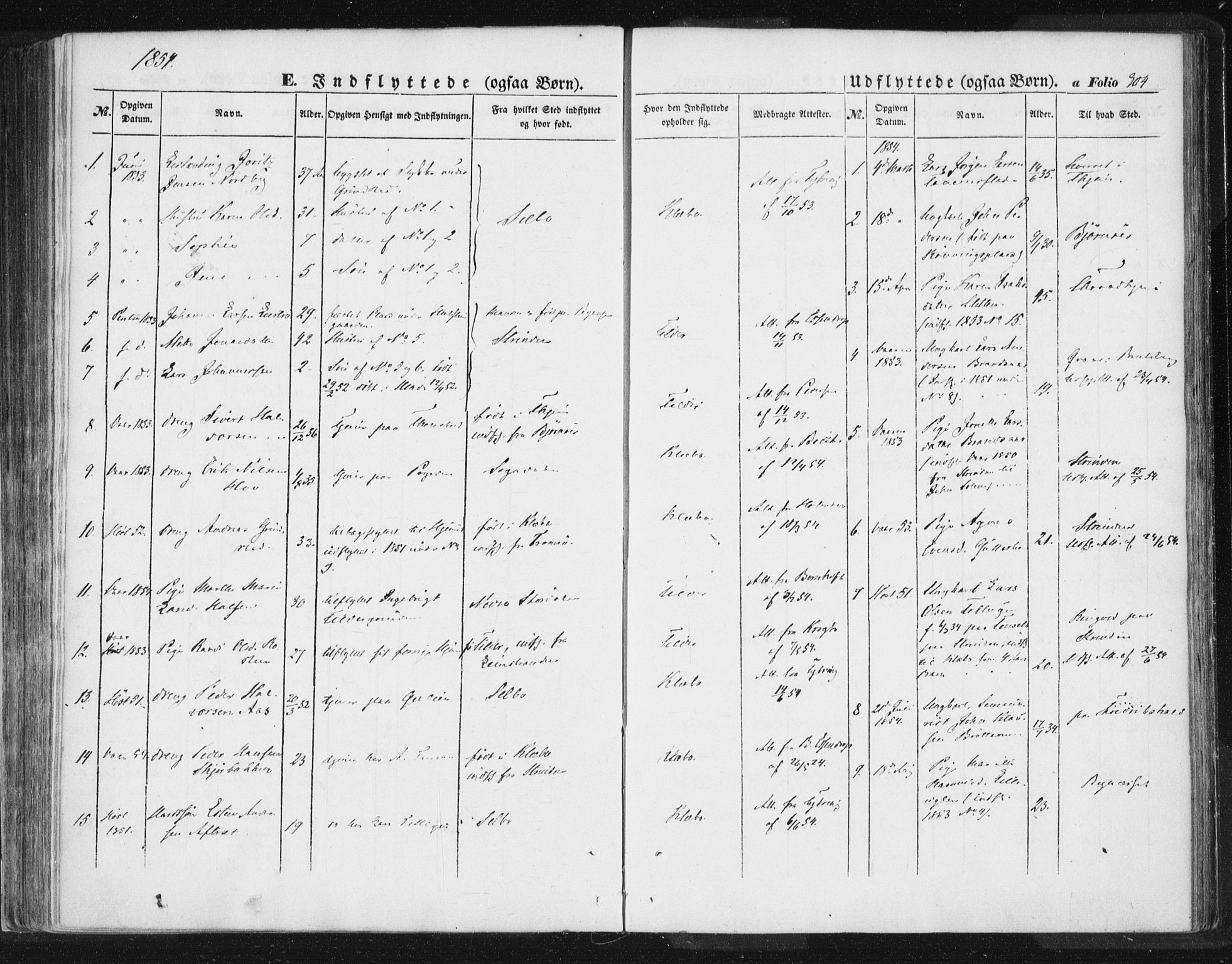 SAT, Ministerialprotokoller, klokkerbøker og fødselsregistre - Sør-Trøndelag, 618/L0441: Ministerialbok nr. 618A05, 1843-1862, s. 304