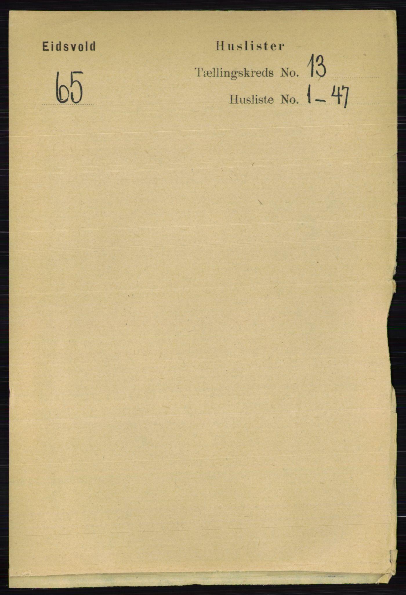 RA, Folketelling 1891 for 0237 Eidsvoll herred, 1891, s. 8943