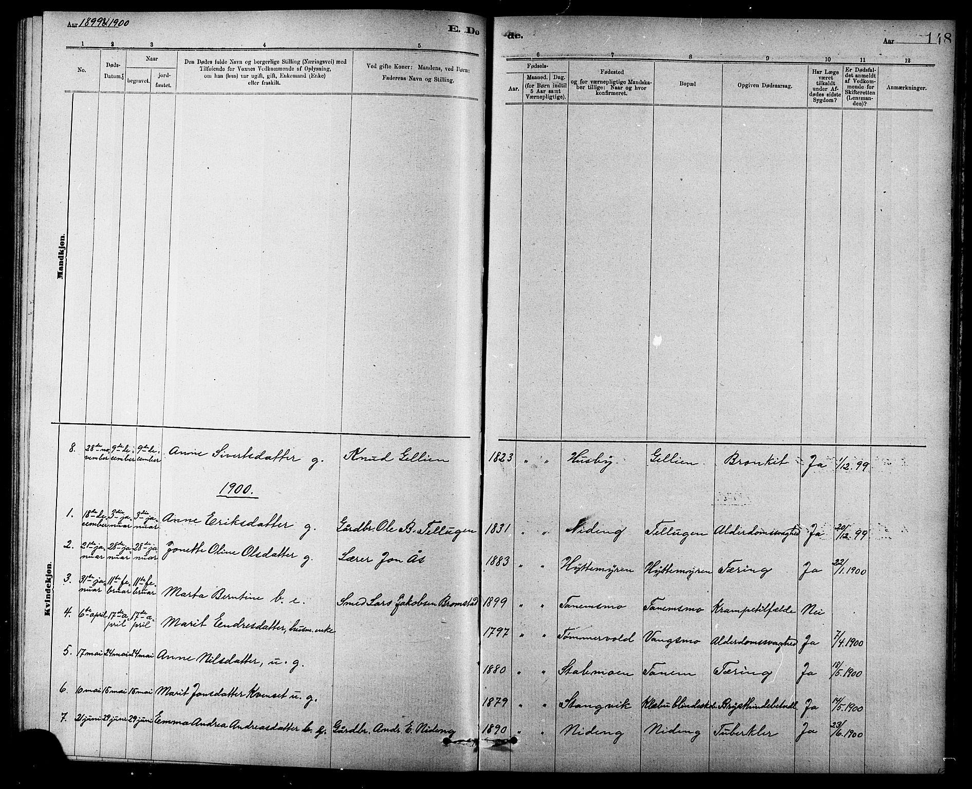 SAT, Ministerialprotokoller, klokkerbøker og fødselsregistre - Sør-Trøndelag, 618/L0452: Klokkerbok nr. 618C03, 1884-1906, s. 148