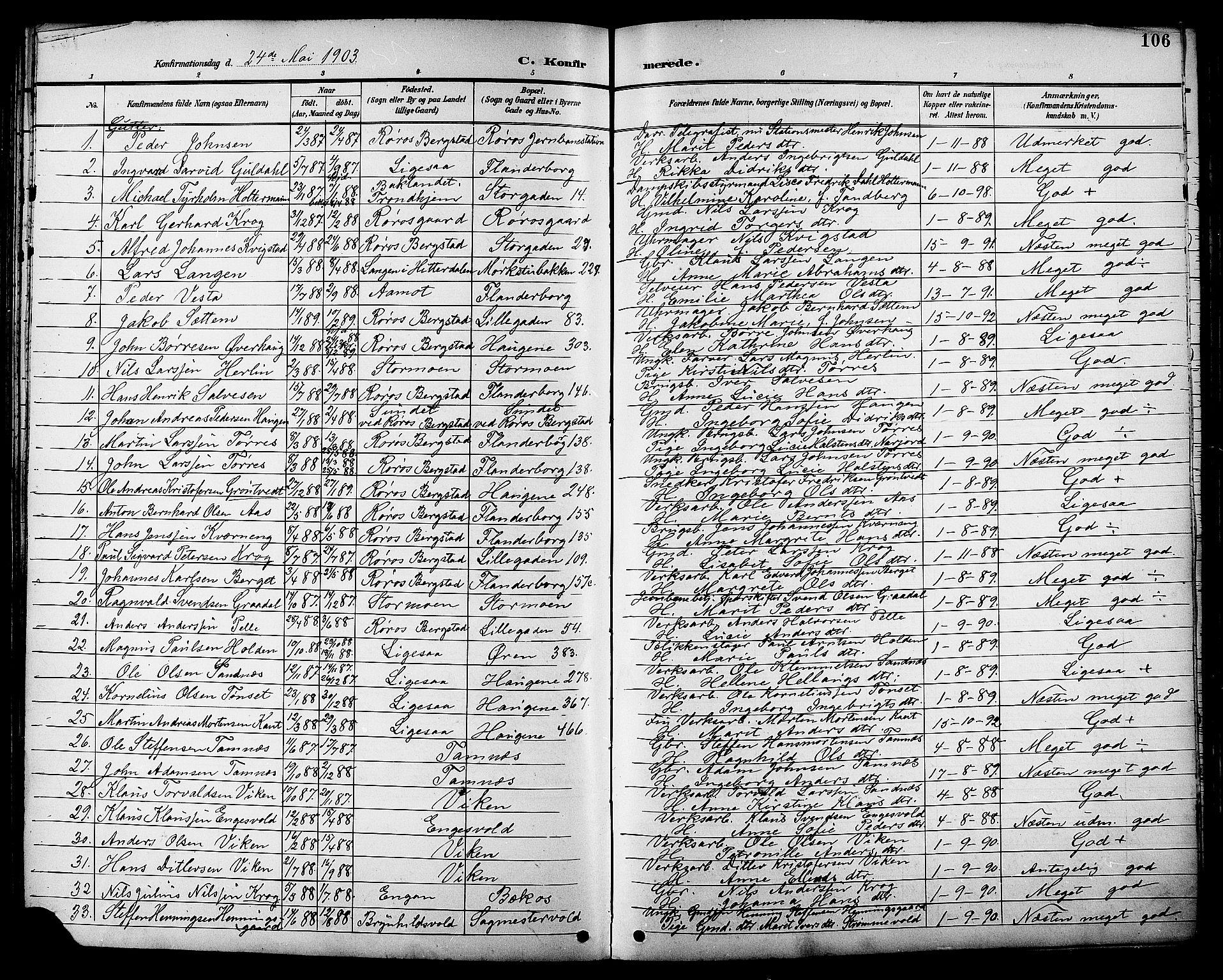 SAT, Ministerialprotokoller, klokkerbøker og fødselsregistre - Sør-Trøndelag, 681/L0941: Klokkerbok nr. 681C05, 1896-1905, s. 106