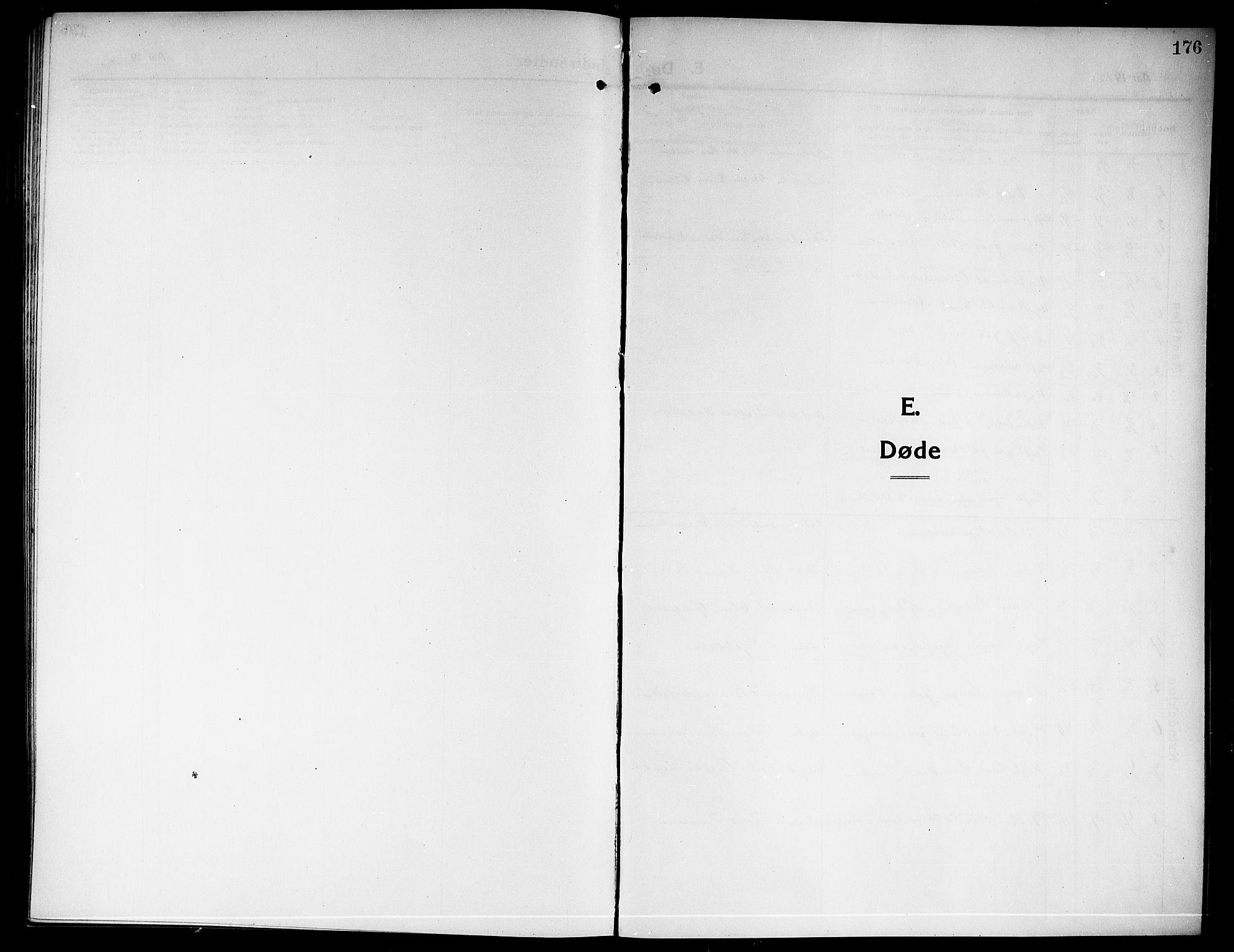 SAKO, Rjukan kirkebøker, G/Ga/L0002: Klokkerbok nr. 2, 1913-1920, s. 176