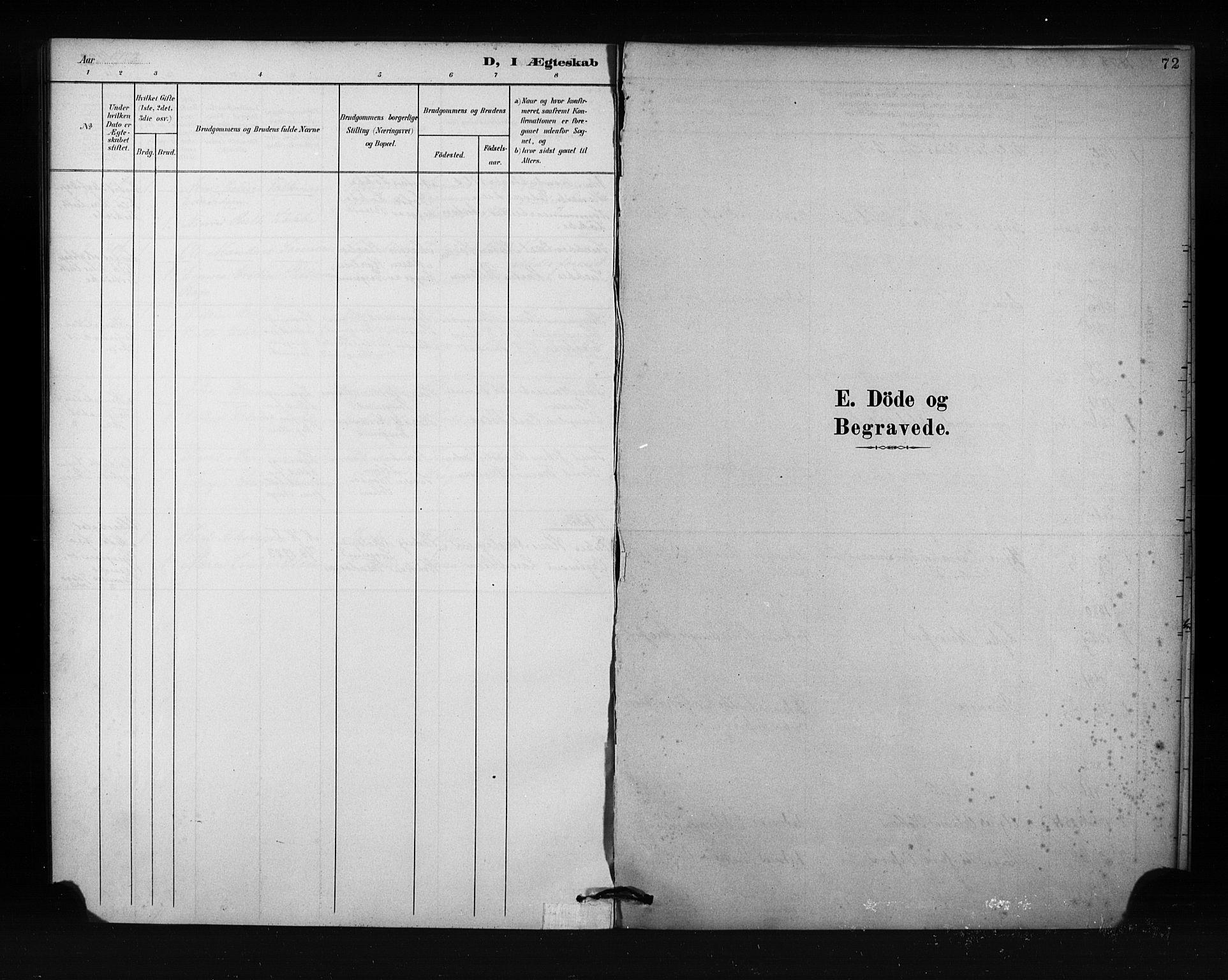 SAKO, Porsgrunn kirkebøker , F/Fa/L0009: Ministerialbok nr. 9, 1878-1923, s. 72