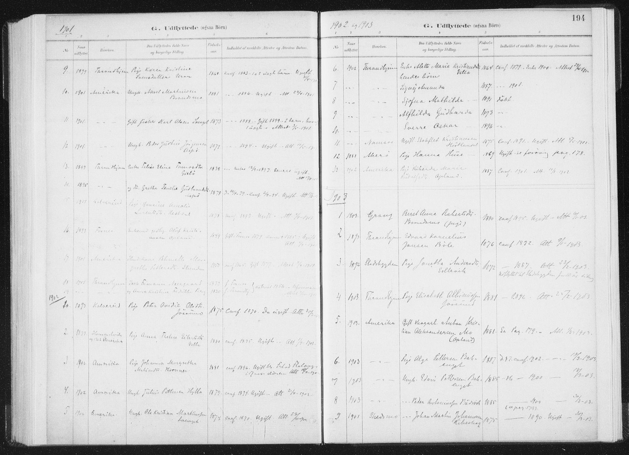 SAT, Ministerialprotokoller, klokkerbøker og fødselsregistre - Nord-Trøndelag, 771/L0597: Ministerialbok nr. 771A04, 1885-1910, s. 194