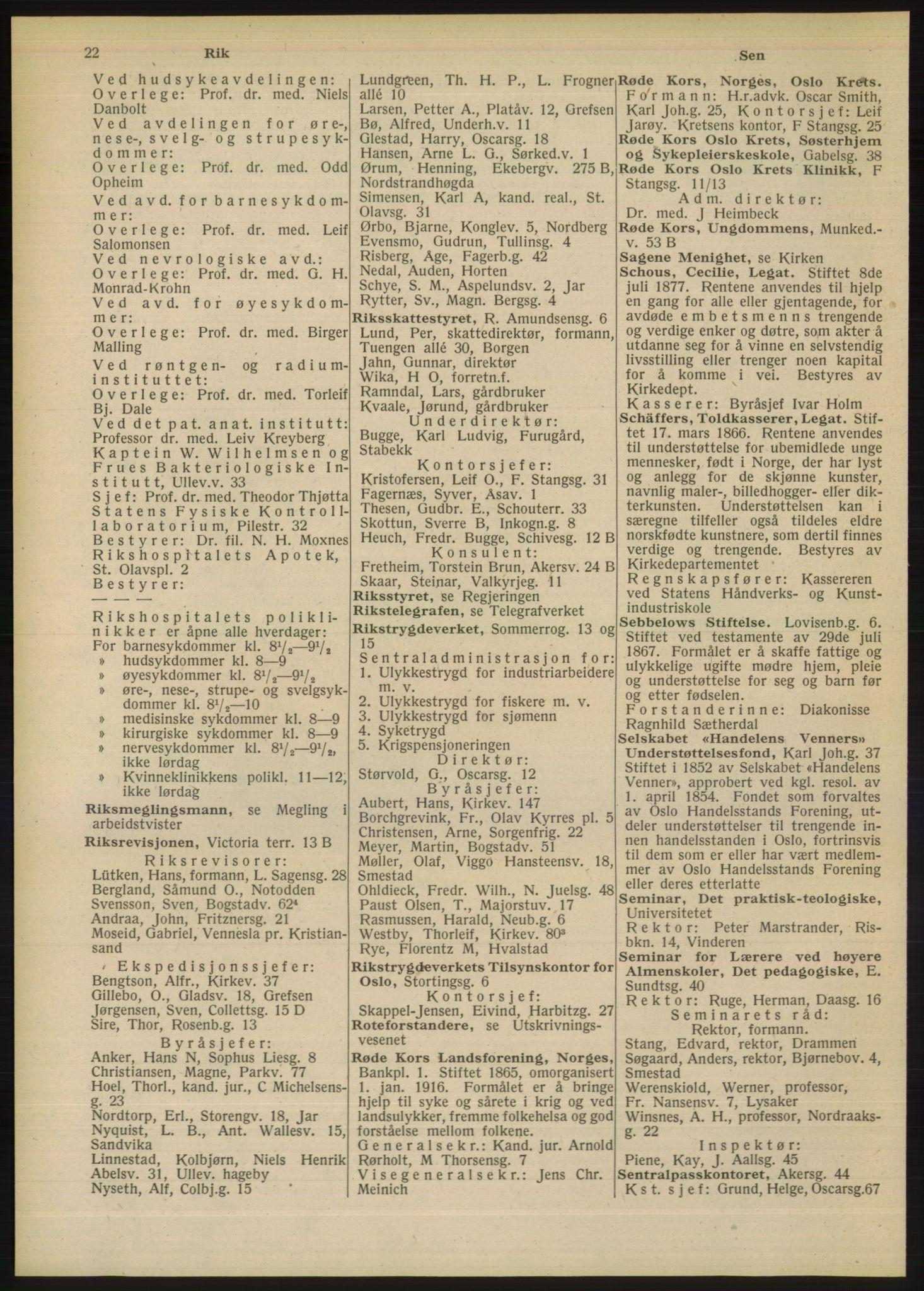 RA, Oslo adressebok (publikasjon)*, 1948, s. 22