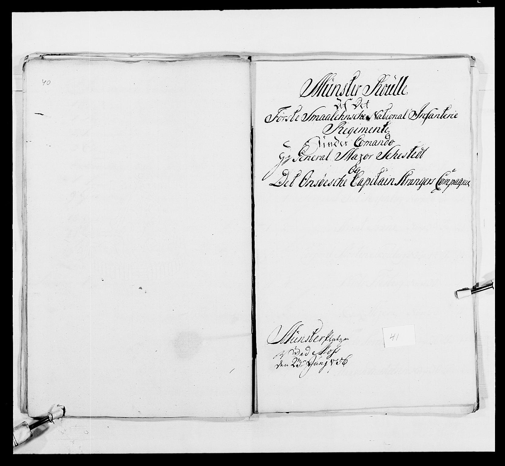RA, Kommanderende general (KG I) med Det norske krigsdirektorium, E/Ea/L0495: 1. Smålenske regiment, 1732-1763, s. 548