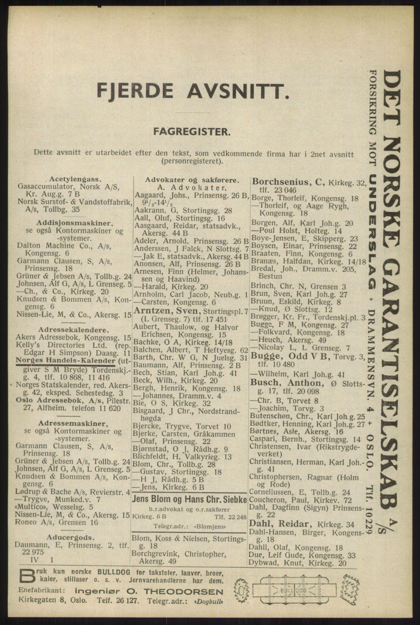 RA, Oslo adressebok (publikasjon)*, 1934, s. 2205