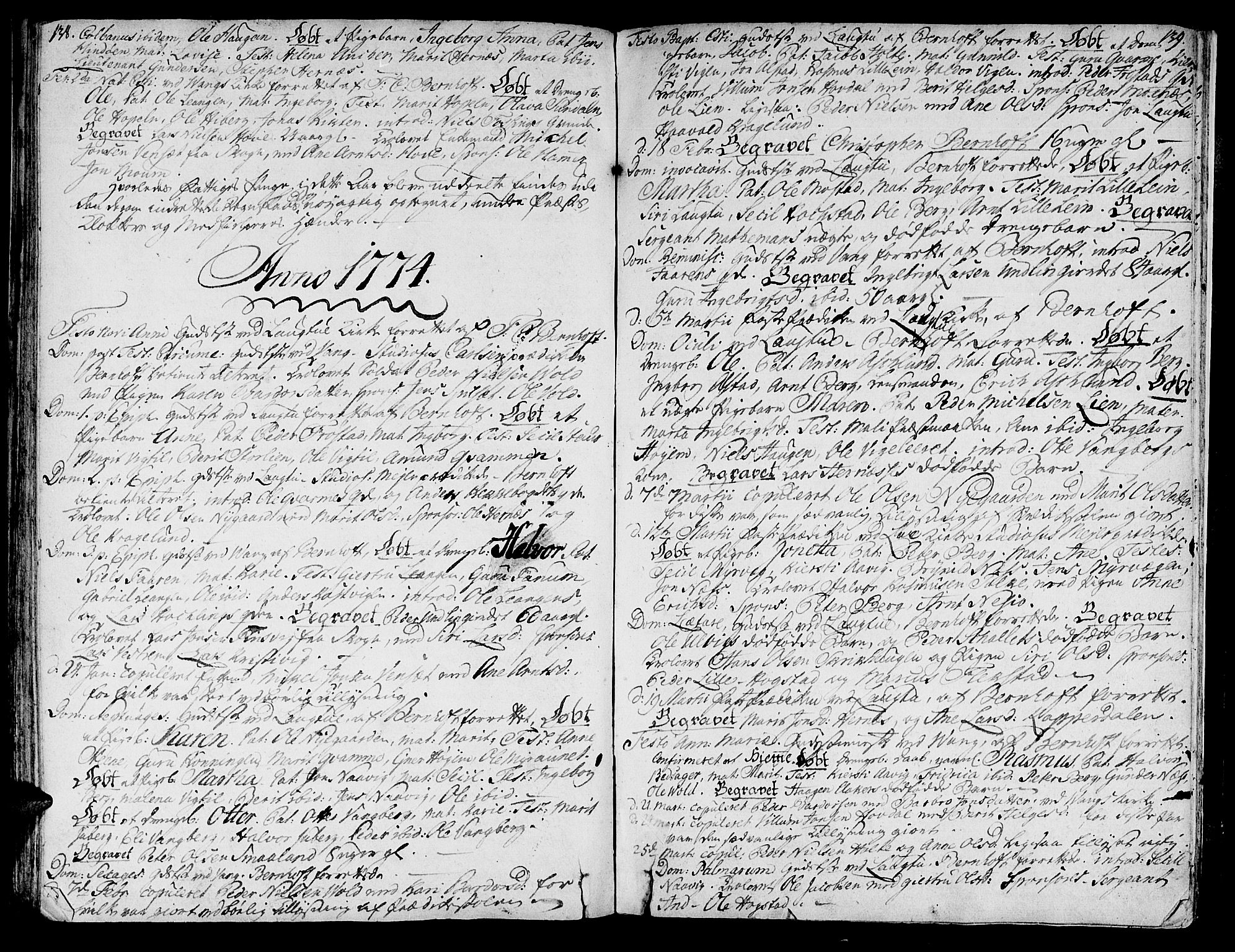 SAT, Ministerialprotokoller, klokkerbøker og fødselsregistre - Nord-Trøndelag, 713/L0109: Ministerialbok nr. 713A01, 1750-1778, s. 138-139