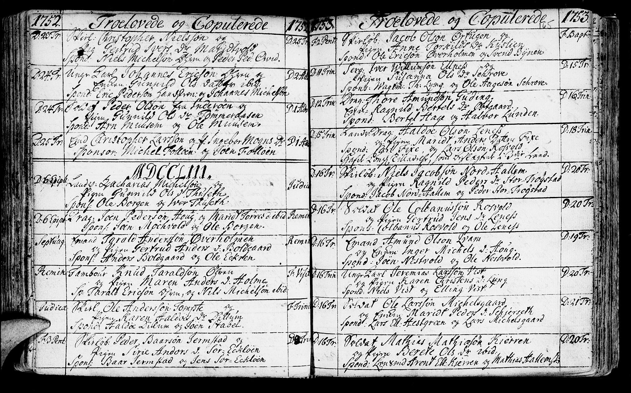 SAT, Ministerialprotokoller, klokkerbøker og fødselsregistre - Nord-Trøndelag, 723/L0231: Ministerialbok nr. 723A02, 1748-1780, s. 165