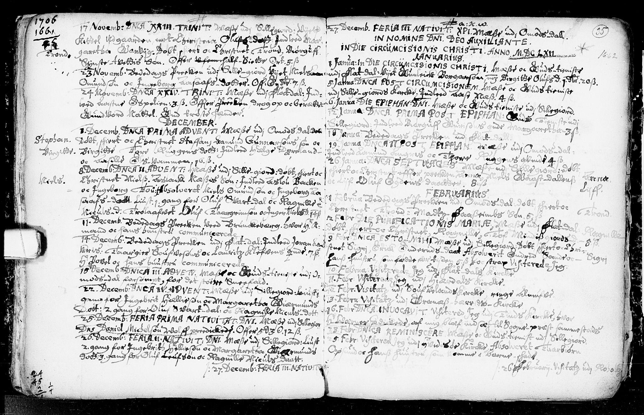 SAKO, Seljord kirkebøker, F/Fa/L0001: Ministerialbok nr. I 1, 1654-1686, s. 35