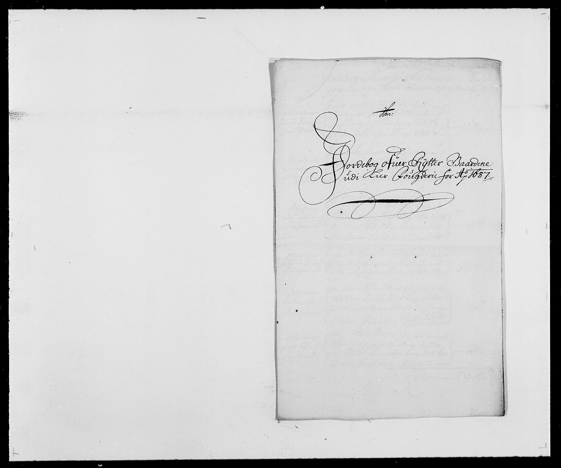 RA, Rentekammeret inntil 1814, Reviderte regnskaper, Fogderegnskap, R28/L1688: Fogderegnskap Eiker og Lier, 1687-1689, s. 137