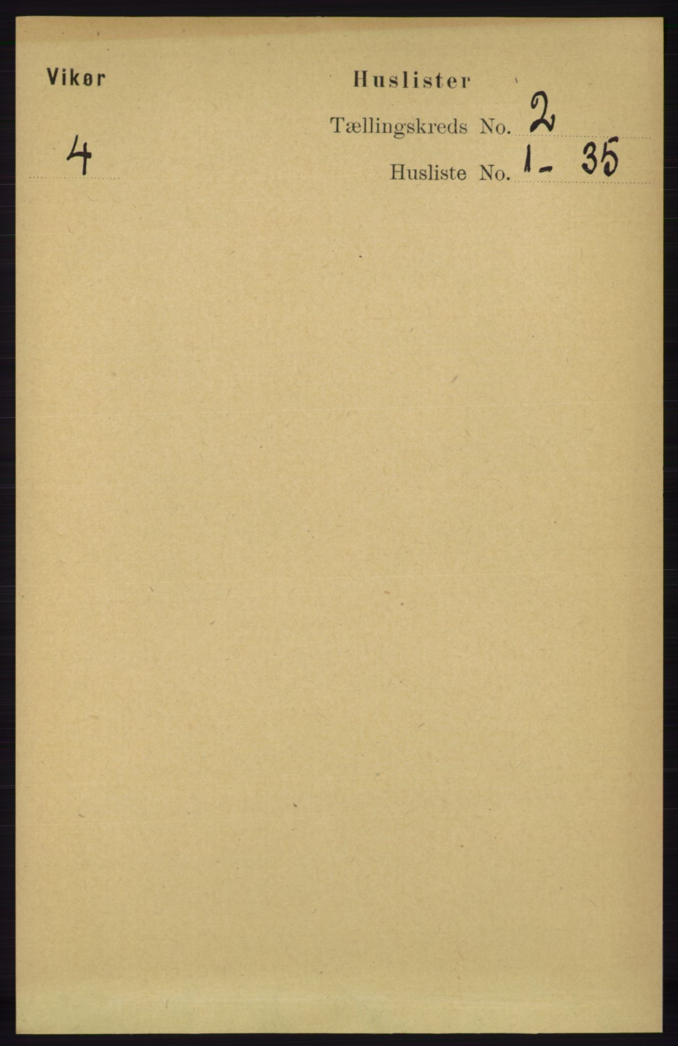 RA, Folketelling 1891 for 1238 Vikør herred, 1891, s. 442