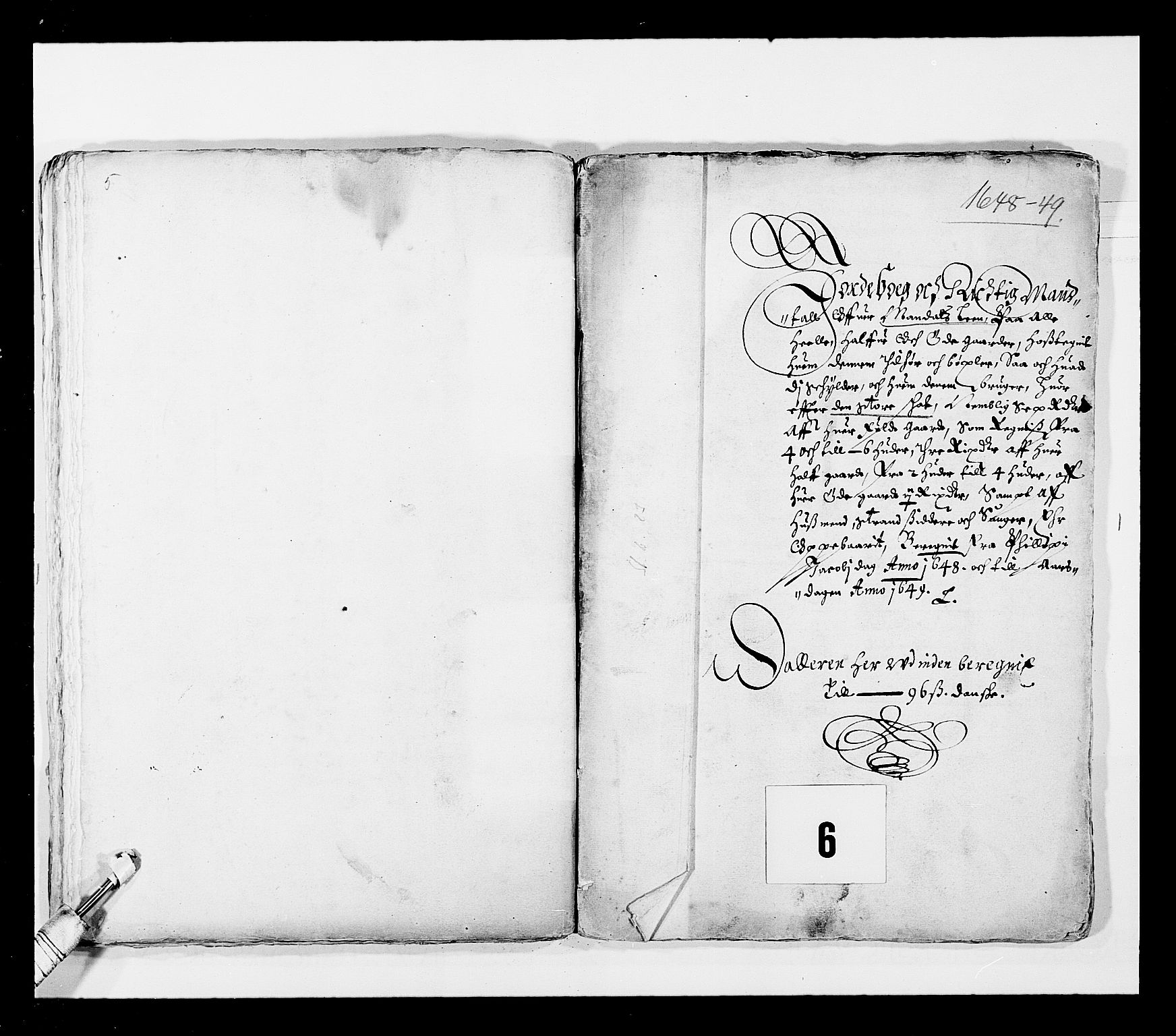 RA, Stattholderembetet 1572-1771, Ek/L0023: Jordebøker 1633-1658:, 1648-1649, s. 51
