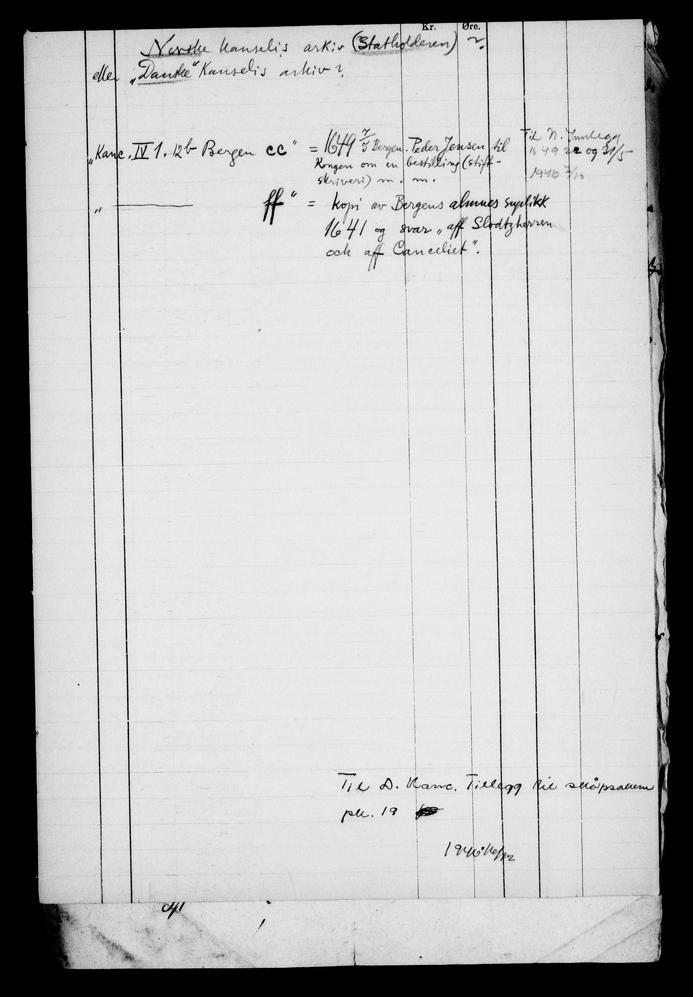 RA, Danske Kanselli, Skapsaker, G/L0019: Tillegg til skapsakene, 1616-1753, s. 108