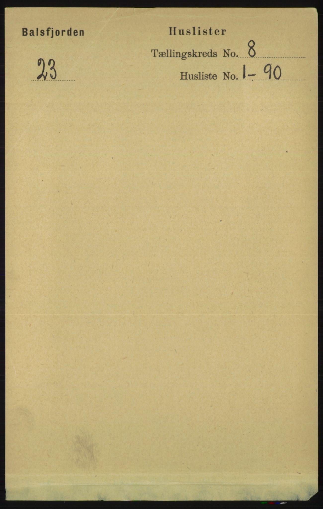RA, Folketelling 1891 for 1933 Balsfjord herred, 1891, s. 2363