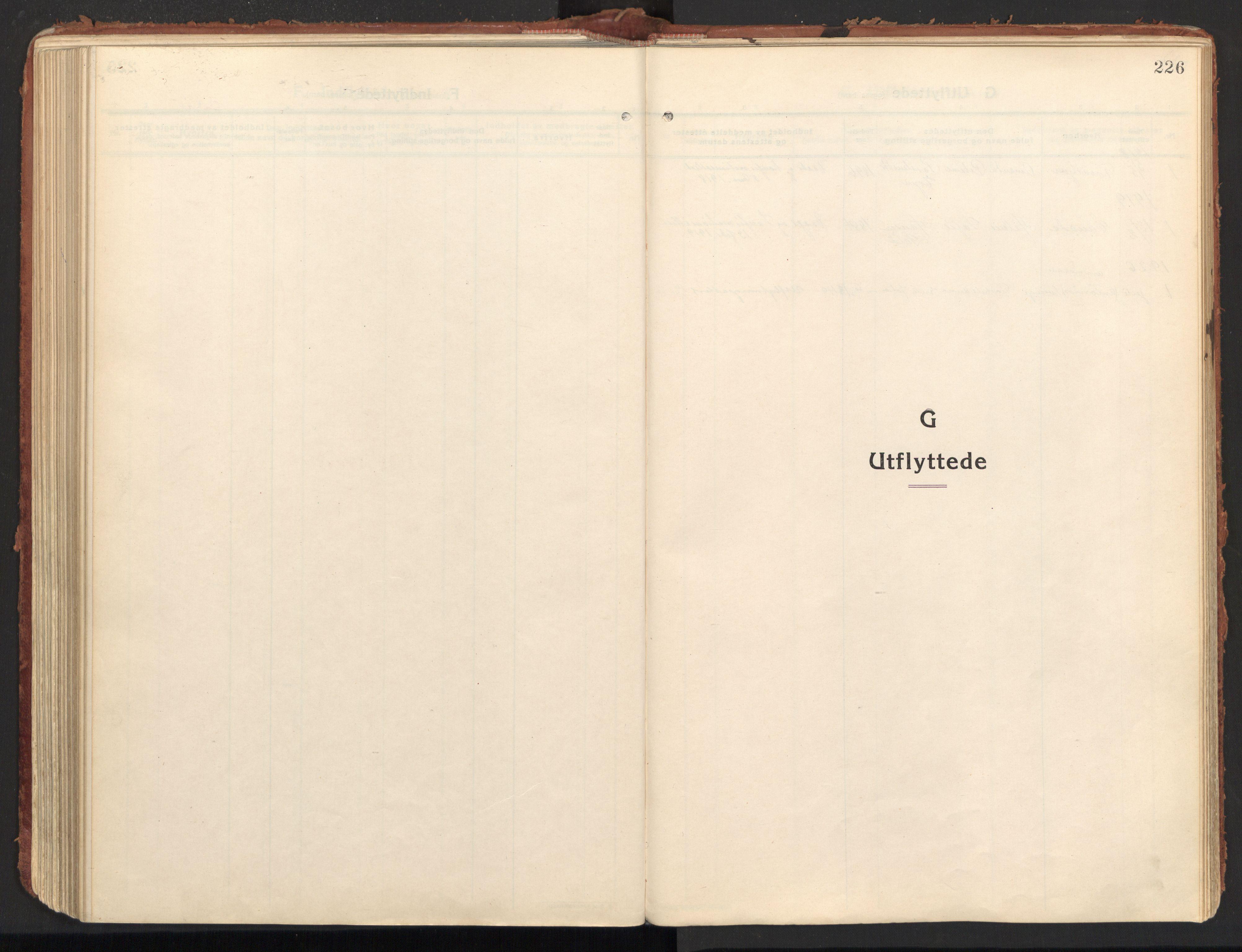 SAT, Ministerialprotokoller, klokkerbøker og fødselsregistre - Nordland, 846/L0650: Ministerialbok nr. 846A08, 1916-1935, s. 226